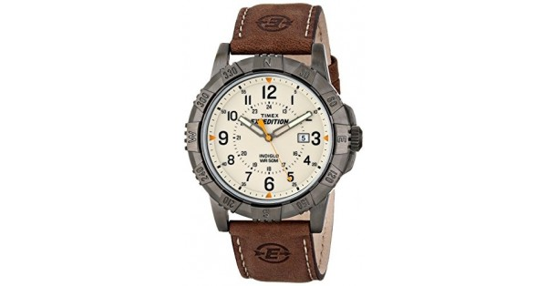 Timex Men S Expedition Rugged Field Watch With Leather Band T49990