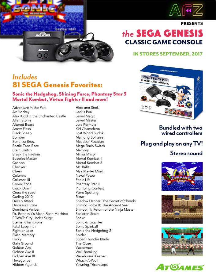 Sega Genesis Classic Game Console 2017 Retro 81 Built In Games W 2