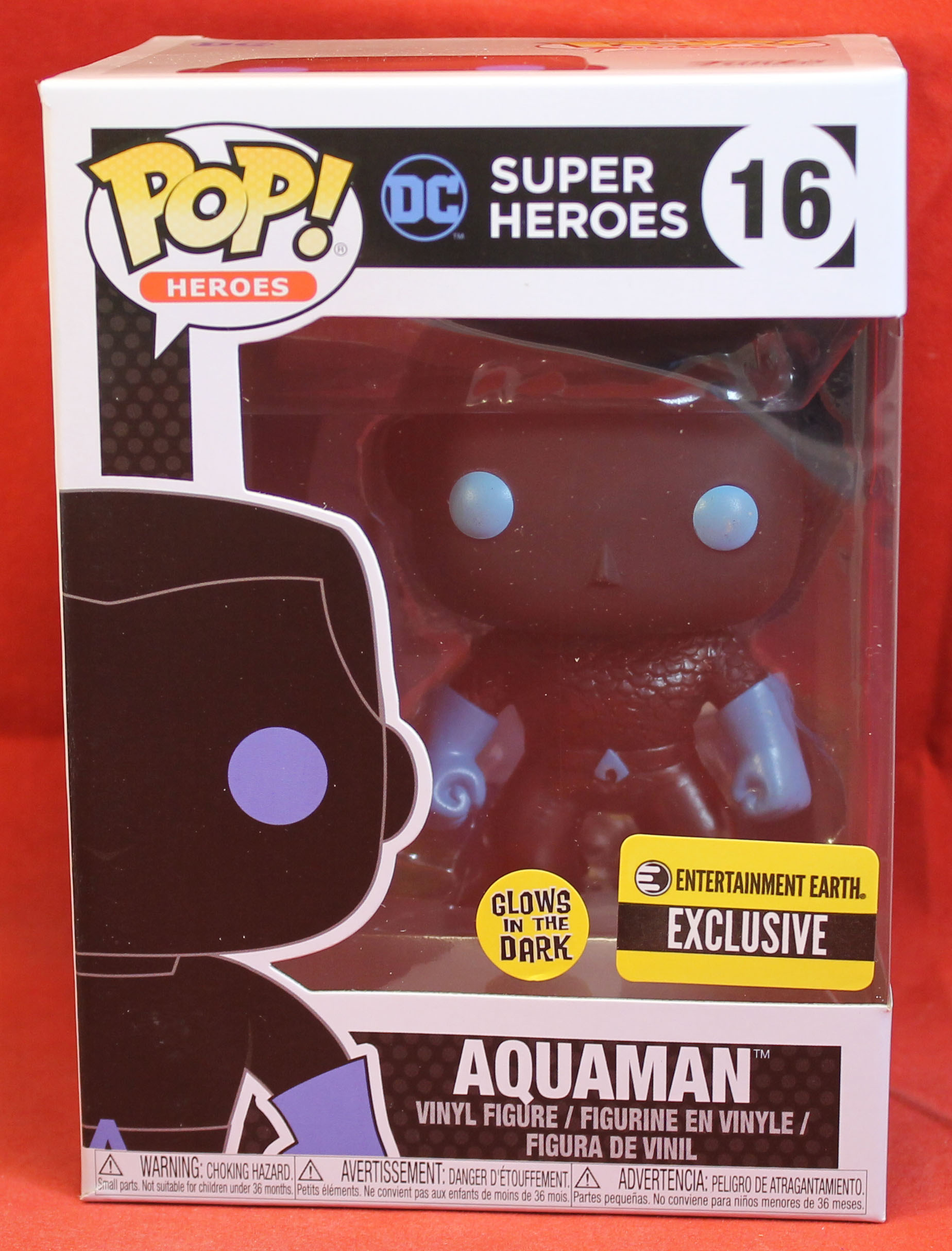 DC UNIVERS Pop Vinyl Figure Glow in Dark #16 Aquaman 2017 Funko