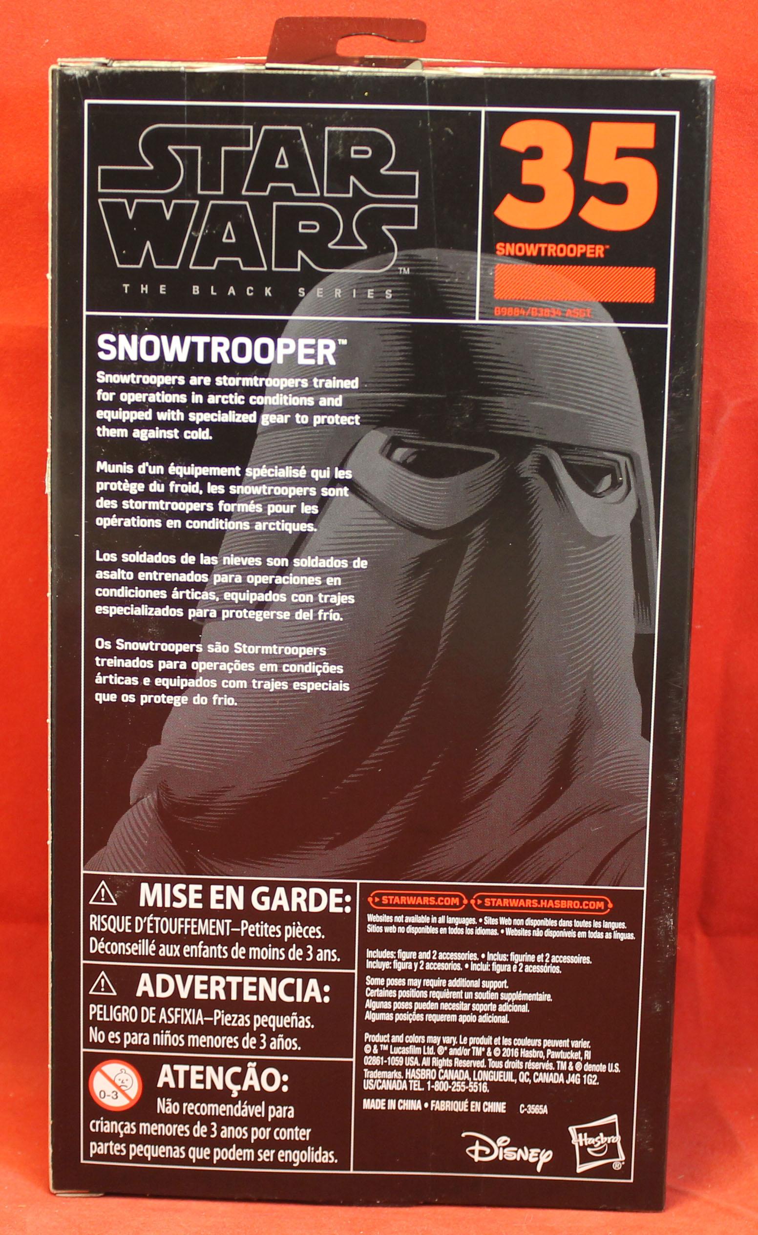 "Hasbro Star Wars The Black Series 6/"" SNOWTROOPER #35 Brand New Disney"