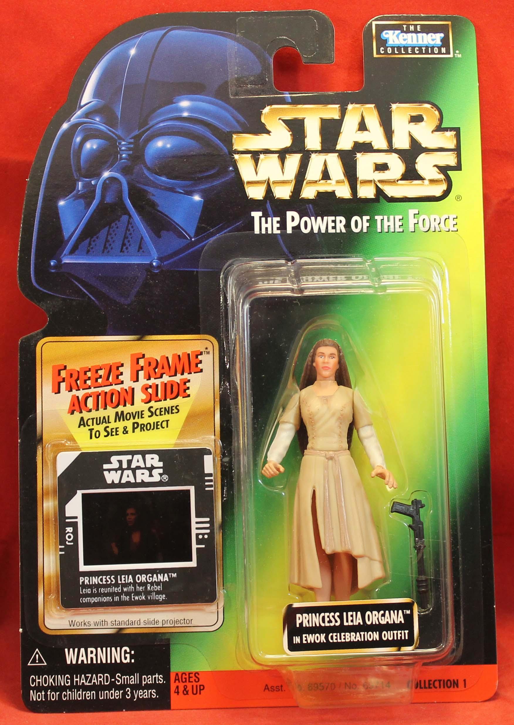 STAR WARS POWER OF THE FORCE FREEZE FRAME Princess Leia Ewok Celebration