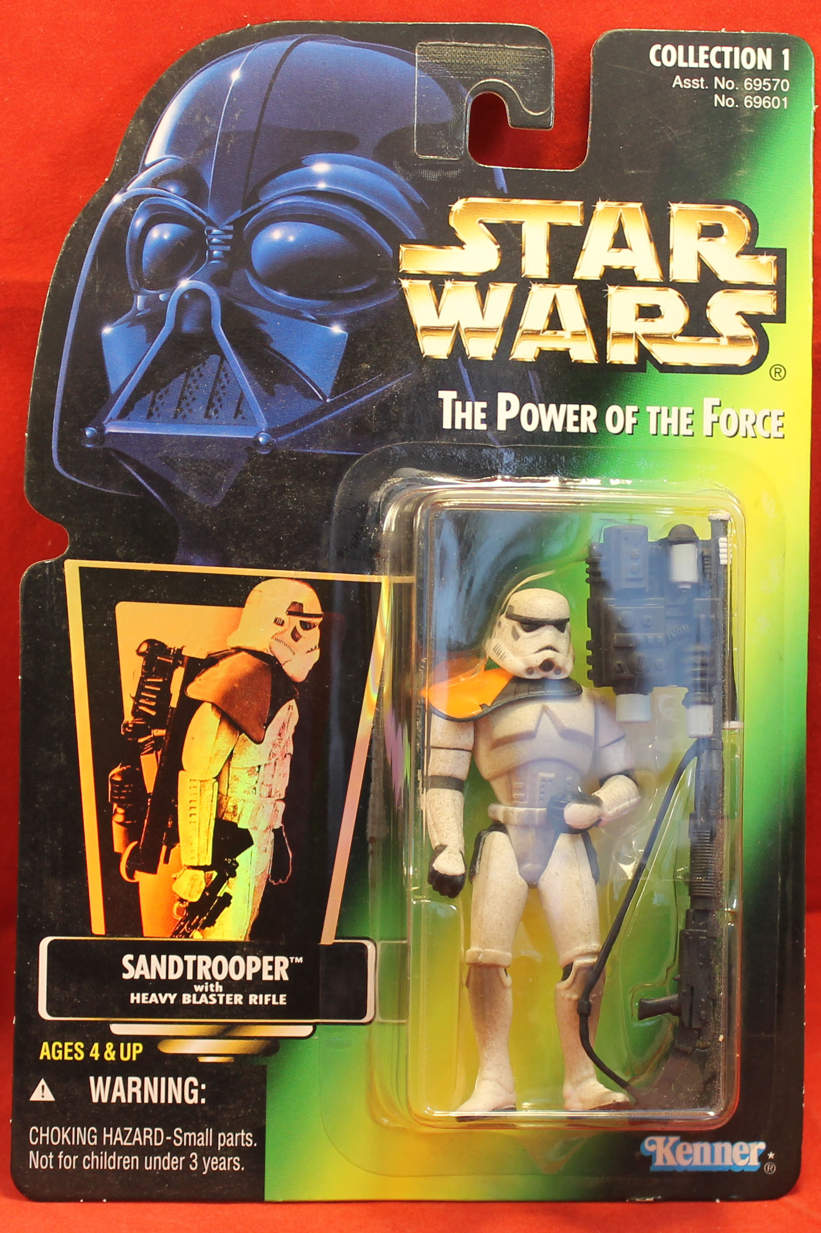 Star Wars Power of the Force POTF2 Collection 3 Stormtrooper .01 Green Hologram