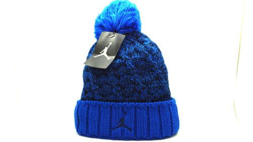 d39a544b643202 ... canada nike air jordan jumpman cable knit beanie hat blue 706608 453  adult 758a0 e72e8