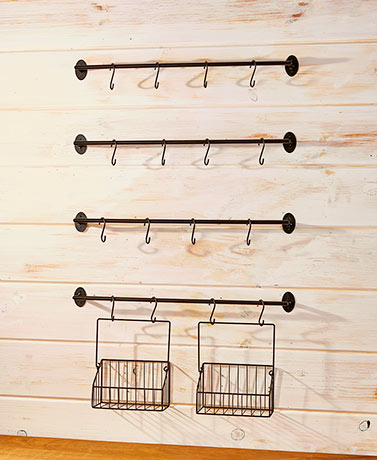 This 6 Pc. Wall Mounted Coffee Mug Rack Is An Easy And Convenient Way To  Keep Your Kitchen Clutter Free. It Comes With 3 Bars That Each Feature 4  Hooks To ...