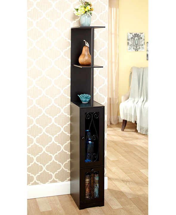 space saving storage furniture. The Space-Saving Scrolled Storage Cabinet Has A Slim Design That Is Perfect  For Small Living Areas. It 2 Open Shelves On Top Are Ideal Storage Space Saving Furniture E
