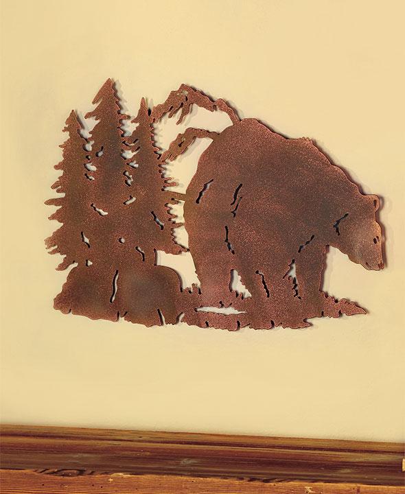Die-Cut Wildlife Wall Art Deer, Bear & Moose Metal Silhouette Rustic ...