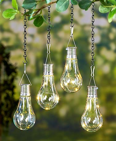 Set of 2 led hanging solar lights light bulb outdoor patio decor set of 2 led hanging solar lights light bulb outdoor patio decor back porch new aloadofball Images
