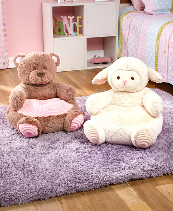 kids plush chair animal shaped ultra soft cuddly furniture gift cozy toddler new ebay. Black Bedroom Furniture Sets. Home Design Ideas