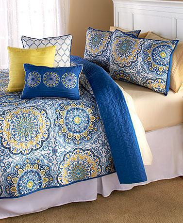 Quilt Sets Decorative Pillows Shams Bedding Bedroom Orange