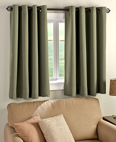 Short Panel Blackout Curtain 2 Panels Shown Polyester