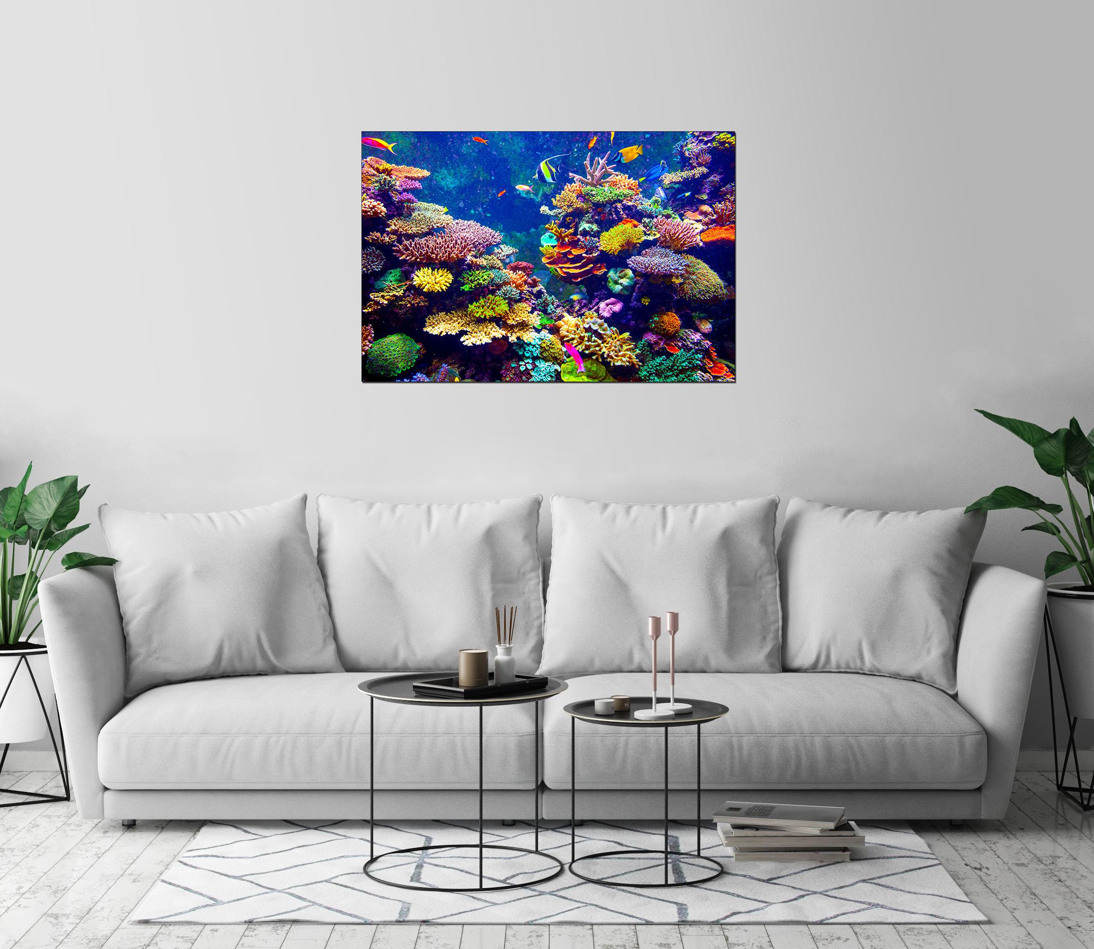 Coral Reef Tropical Fish Aquarium Art Print Wall Decor