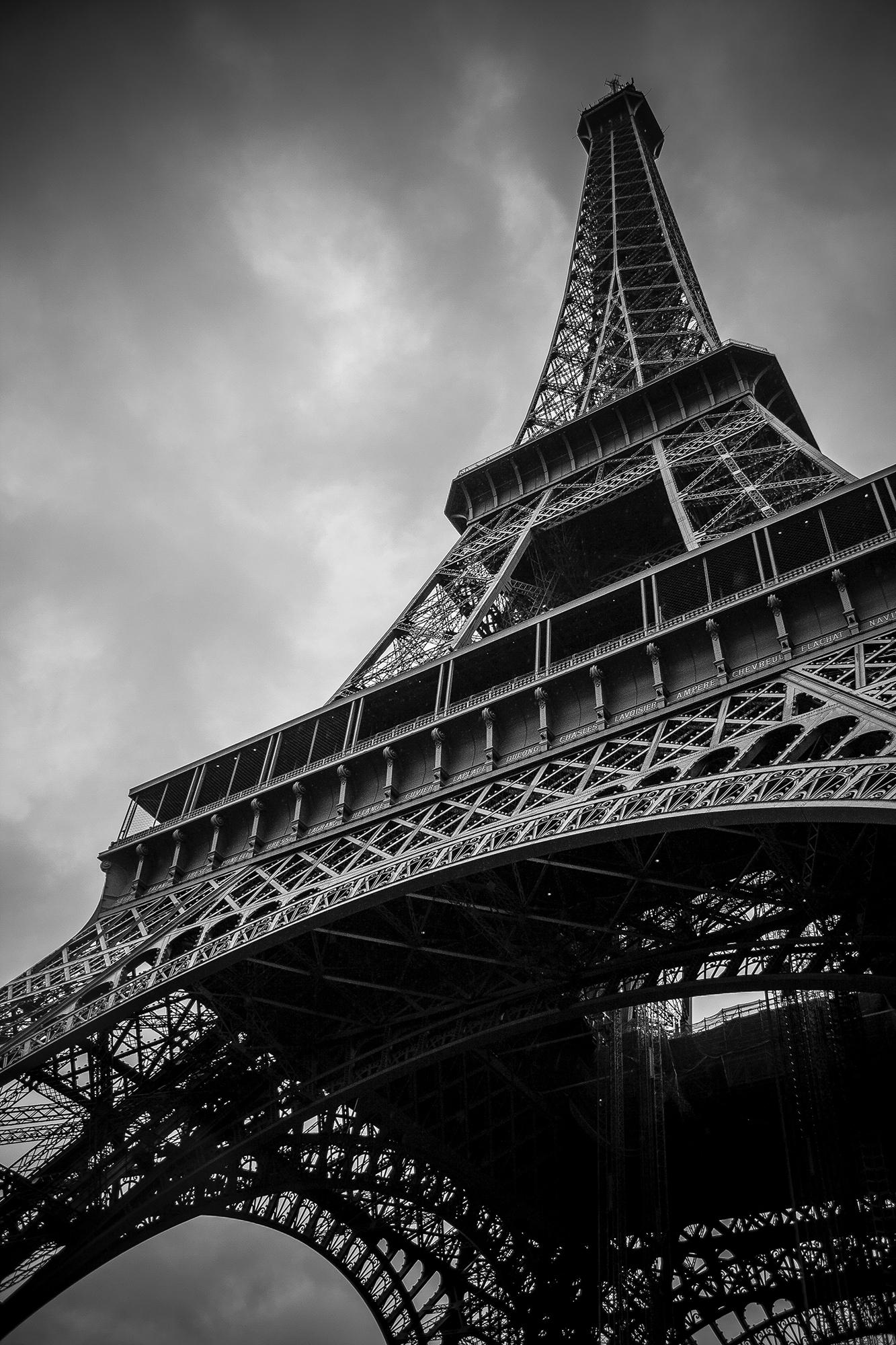 Details About Eiffel Tower Paris France Black White Art Print Wall Decor Image Unframed Poster
