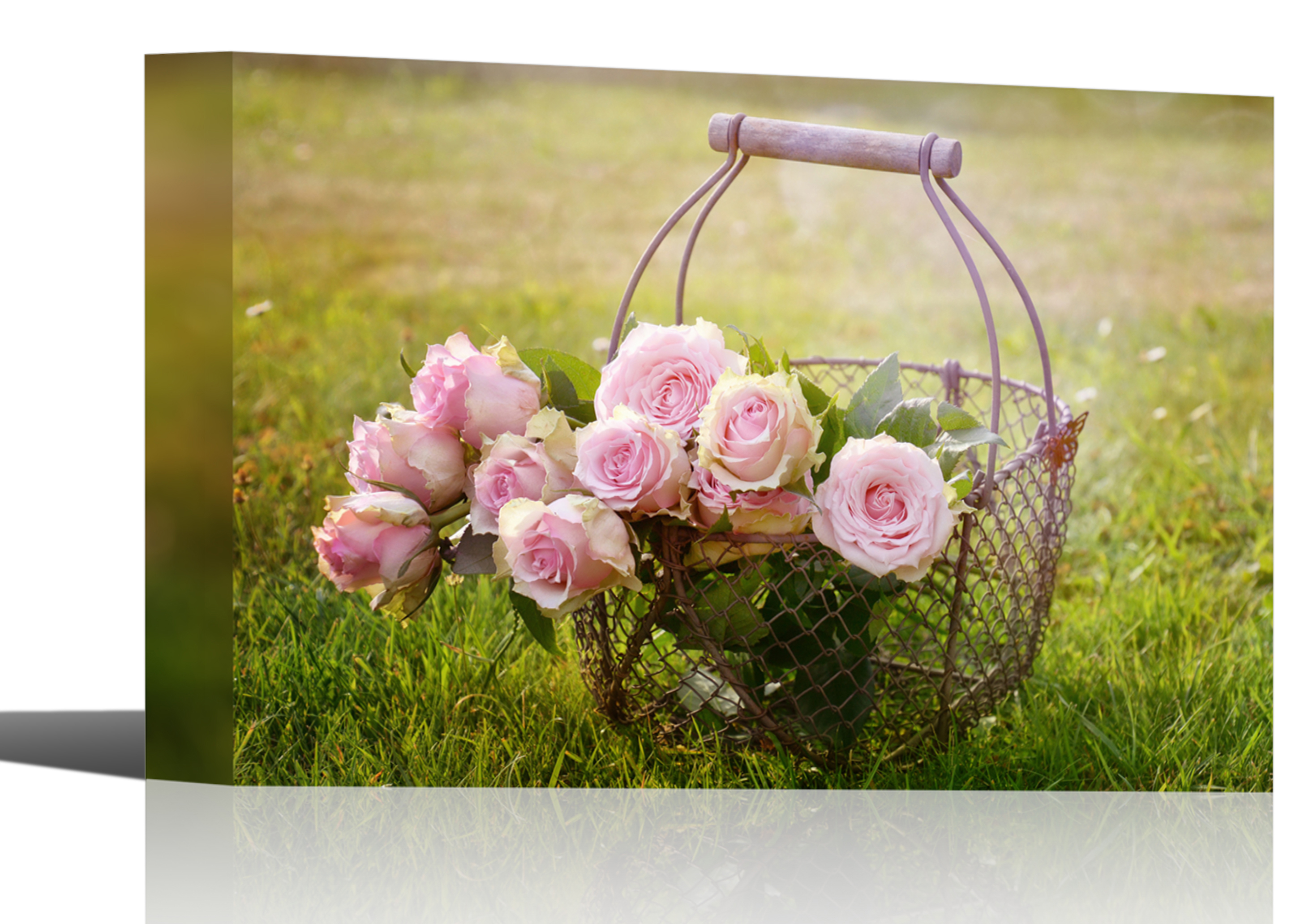 Rose Blossoms Flower Bouquet Art Print Wall Decor Image Canvas ...
