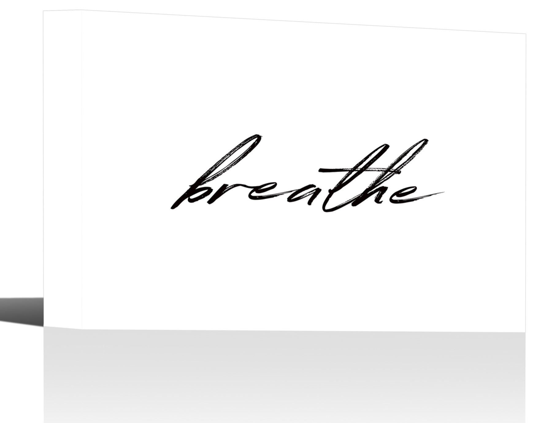 breath motivation quote word art print wall decor