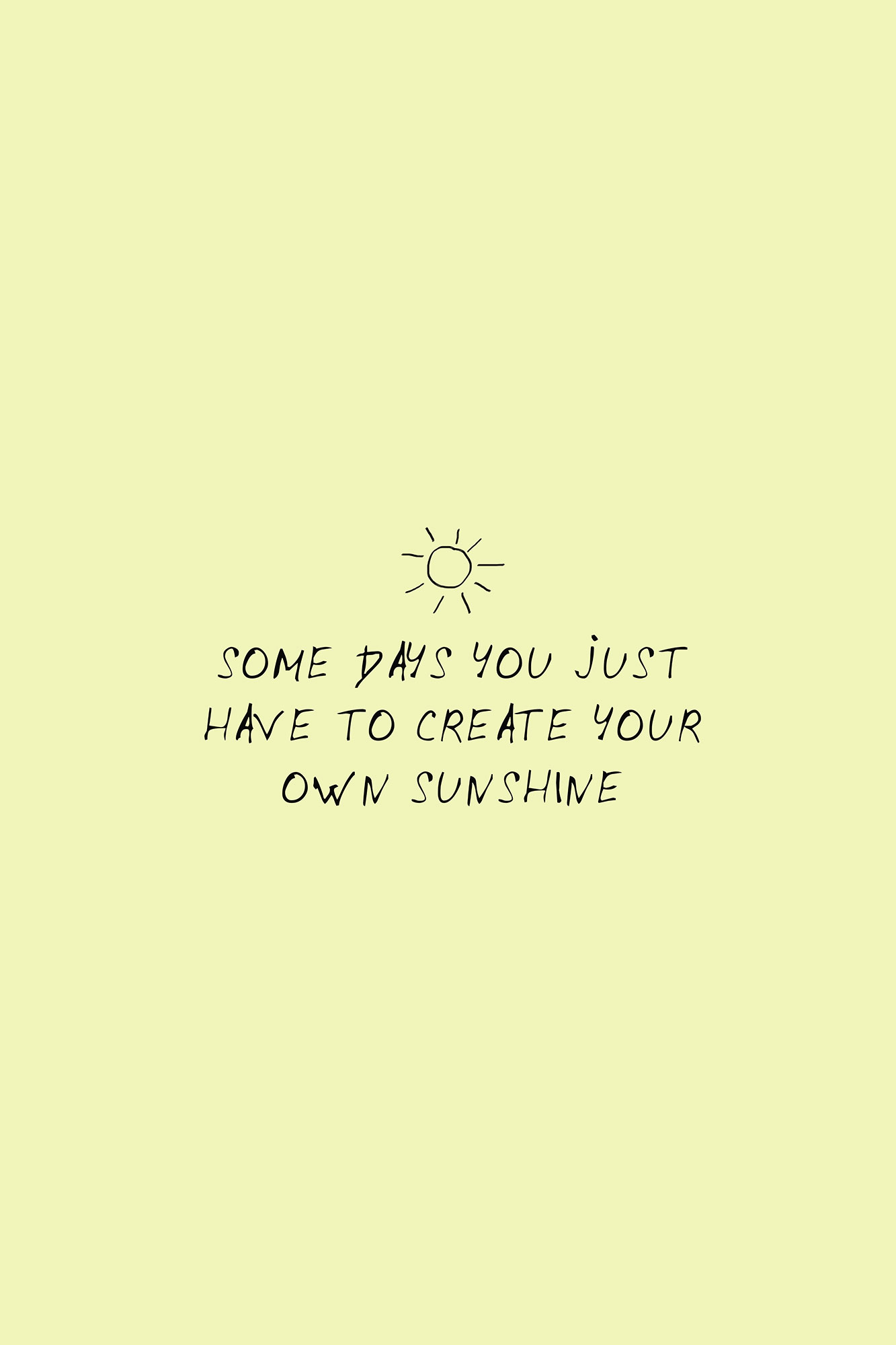 Create Sunshine Inspiration Quote Art Print Wall Decor - Canvas ...