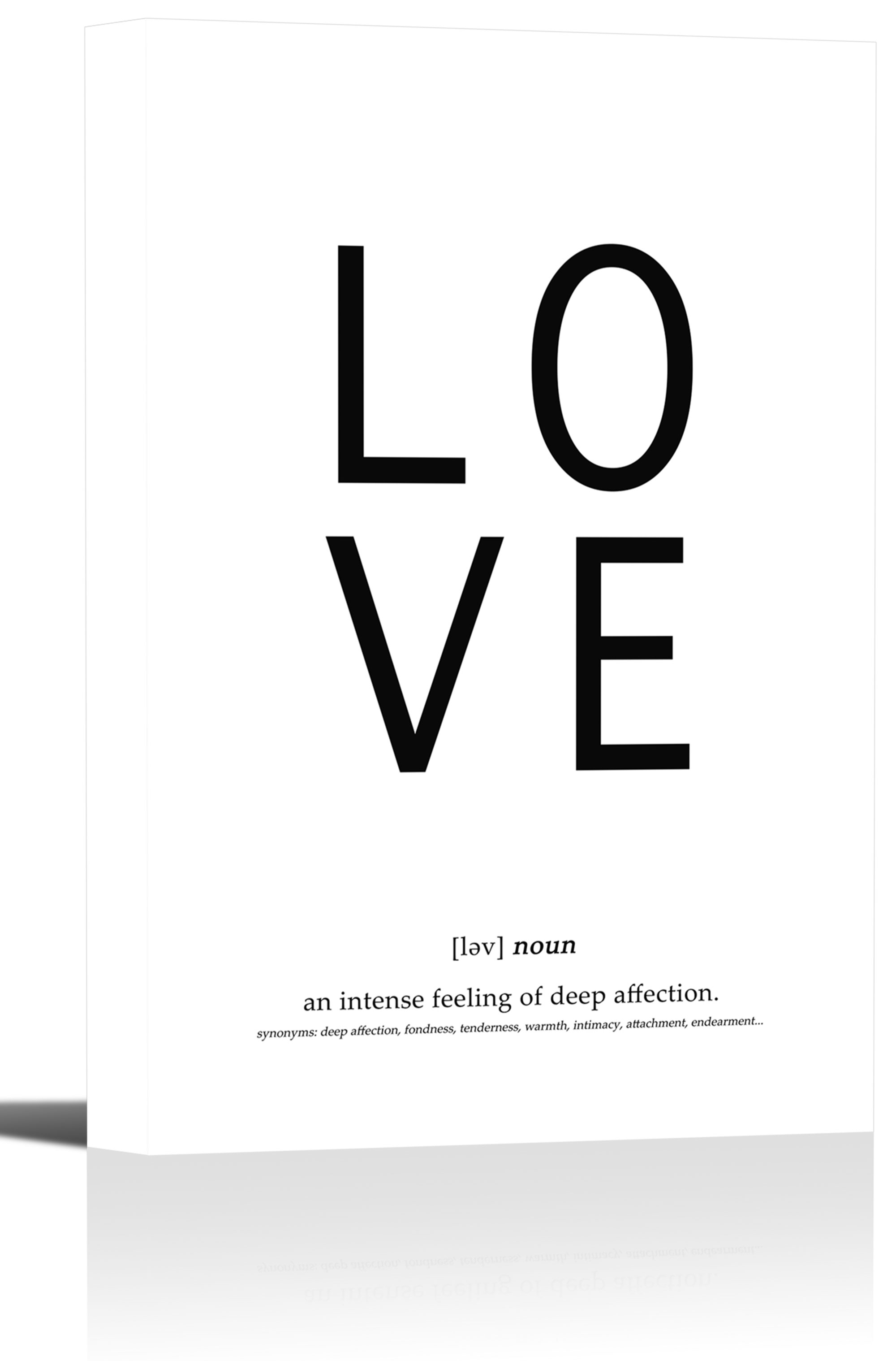 Love Definition Quote Word Art Print Wall Decor Image - Canvas ...