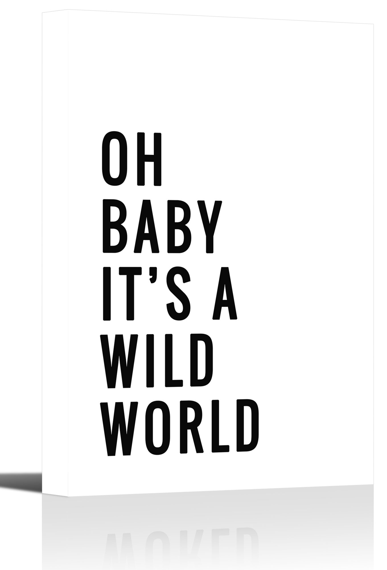 Oh Baby World Quote Nursery Word Art Print Wall Decor - Canvas ...