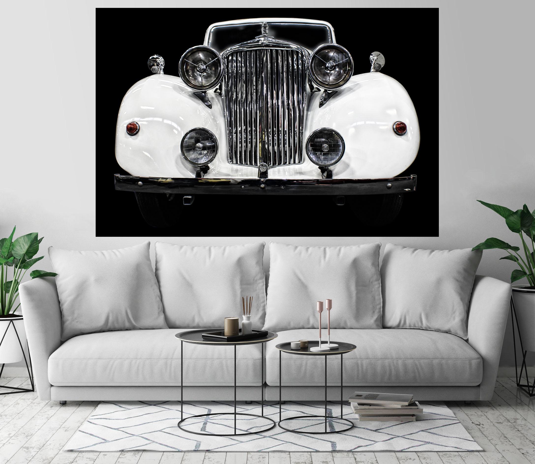 Jaguar Classic Retro Car Art Print Wall Decor Self