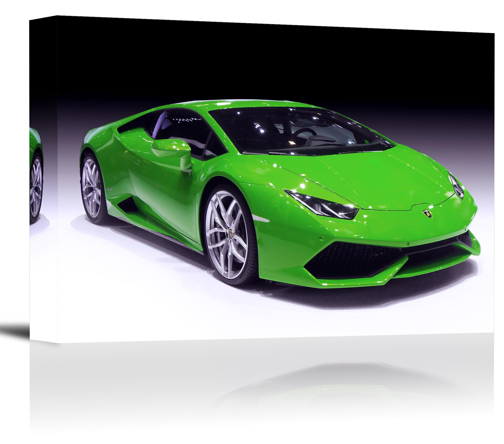 Lamborghini Huracan Sports Car Art Print Wall Decor Canvas