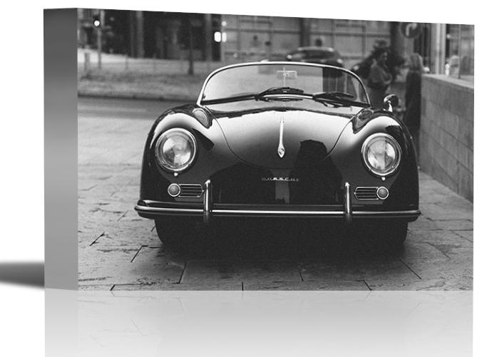 Porsche Convertible Vintage Car Art Print Wall Decor
