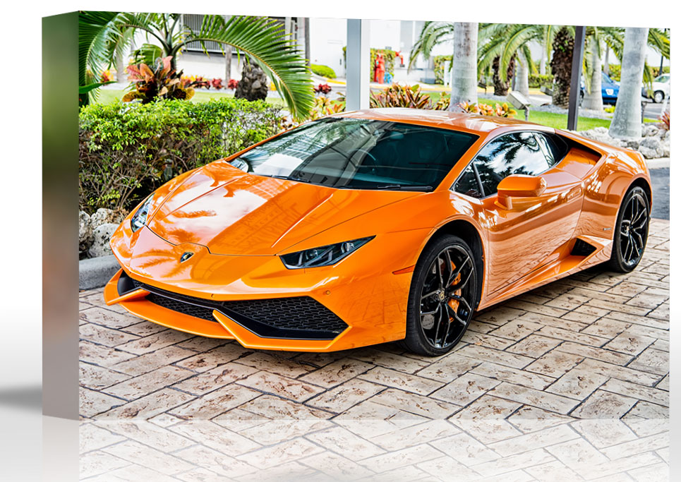 Lamborghini Huracan Automobile Art Print Wall Decor - Canvas ...
