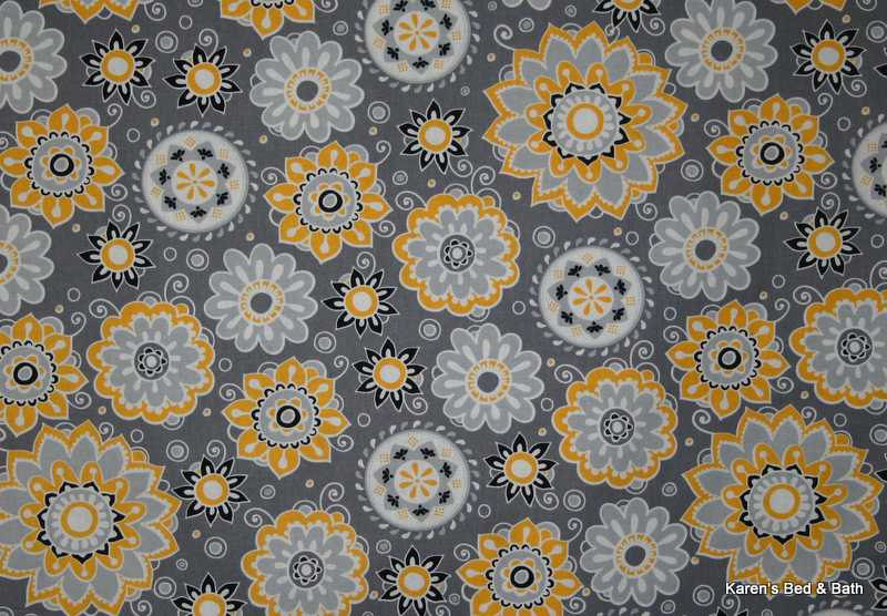 Yellow grey white black floral flowers gray handcrafted curtain store categories mightylinksfo