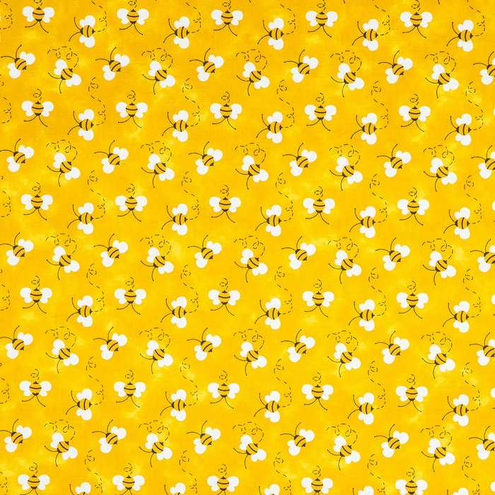 SPRING FLING BUMBLE BEE FLORAL OUT OF PRINT COTTON FABRIC SOLD BY THE 1//2 YD