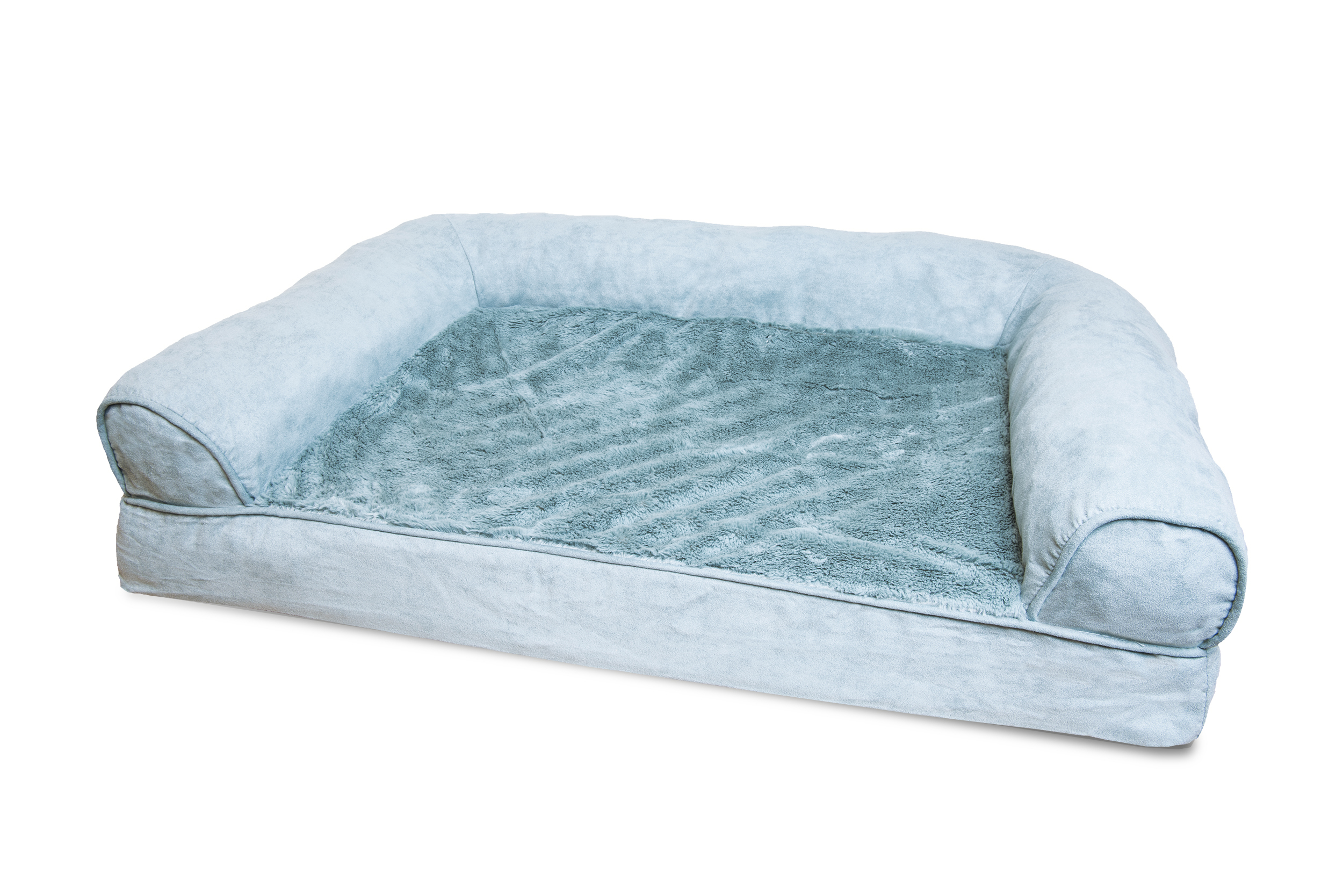 beds lounger dog pet orthopedic contour luxe microvelvet furhaven bed itm