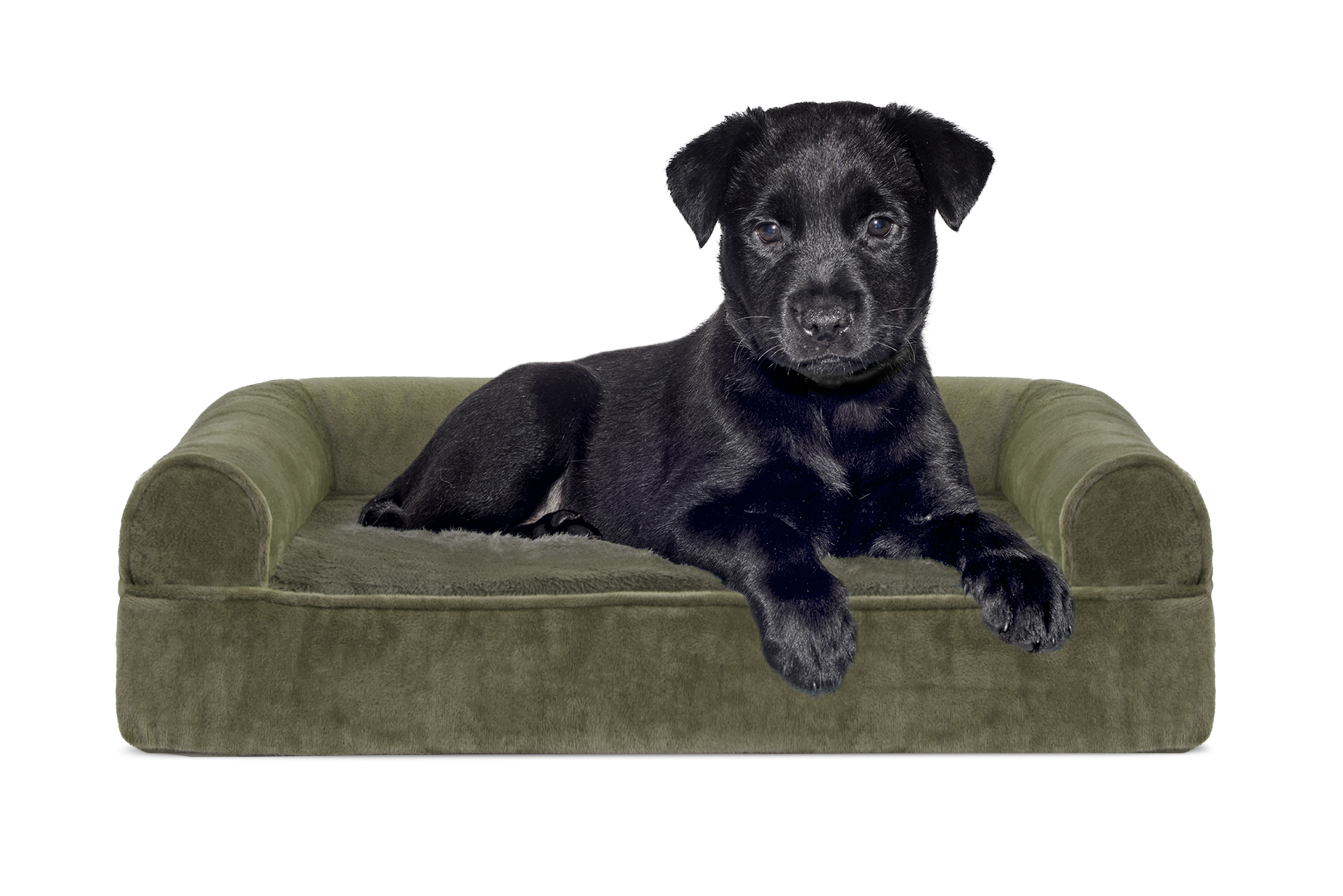 Faux Fur Amp Velvet Orthopedic Sofa Pet Bed Dog Couch Ebay