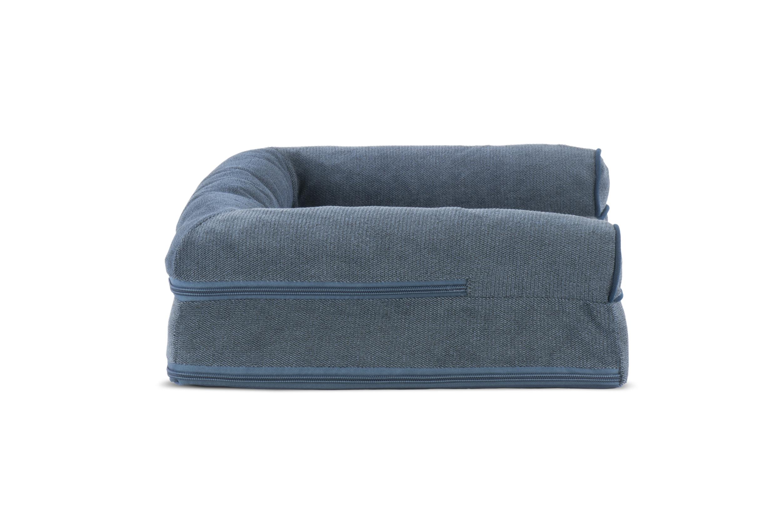 Faux Fleece Amp Chenille Soft Woven Memory Top Sofa Pet Bed