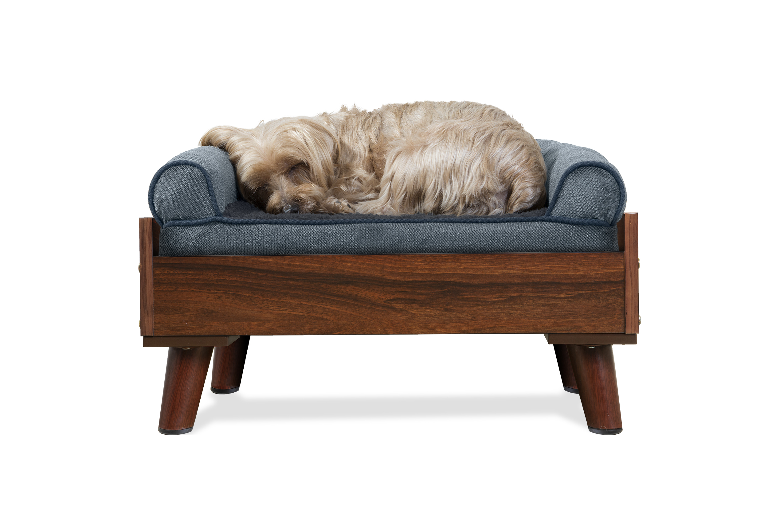Details About Furhaven Bed Frame For Sofa Style And Deluxe Mattress Dog Beds
