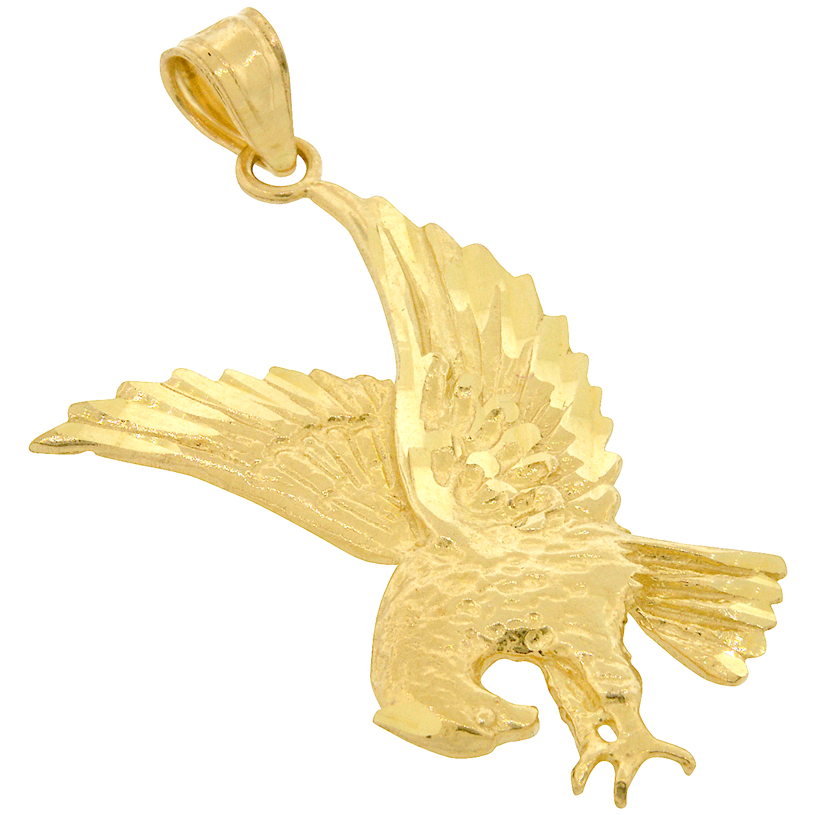 mens eagle s in accented diamond over pendant silver men sterling gold