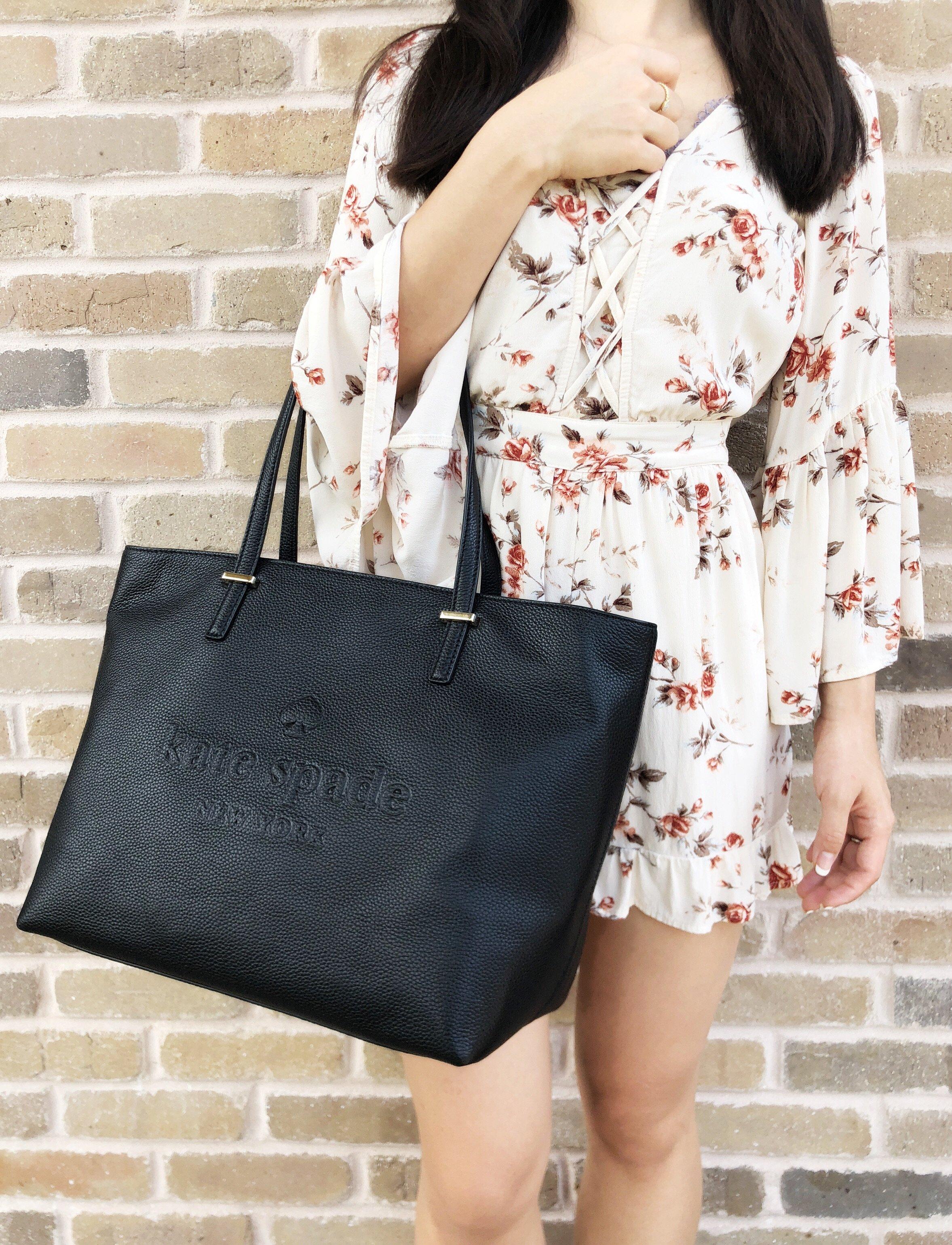 Kate Spade Ash Street Remmi Tote Pebble Leather Black Handbag WKRU5405