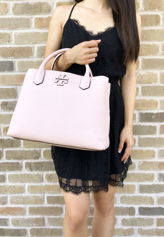 c03e9158eaae Tory Burch McGraw Leather Triple Compartment Satchel Pink Quartz ...