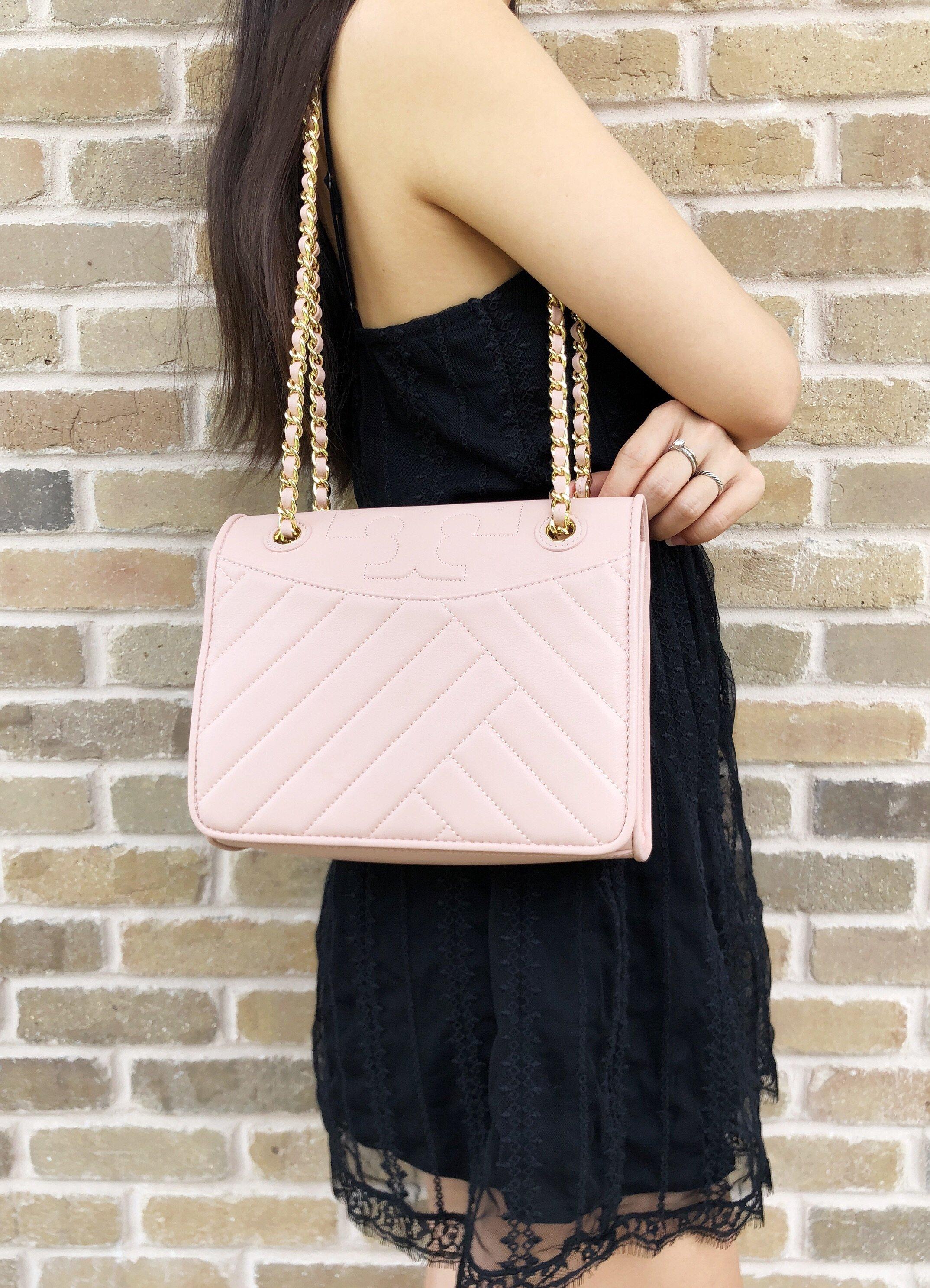 3d9ee95b262d Details about Tory Burch Alexa Fleming Medium Convertible Shoulder Bag Pink  Quartz