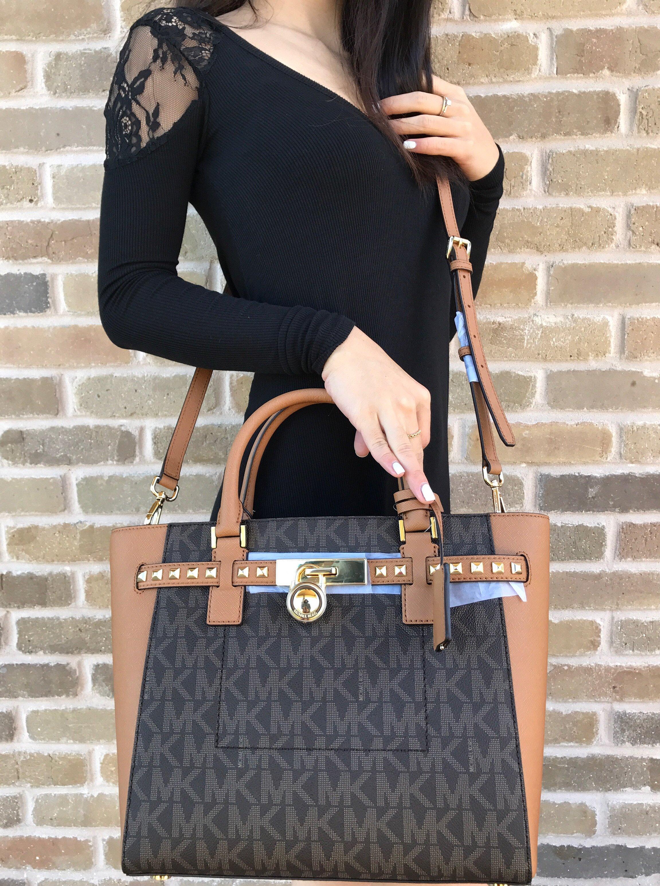 38e2cc1235b28 ... Large Leather Satchel Retail 458.00 + tax Fashion Michael Kors Hamilton  ...