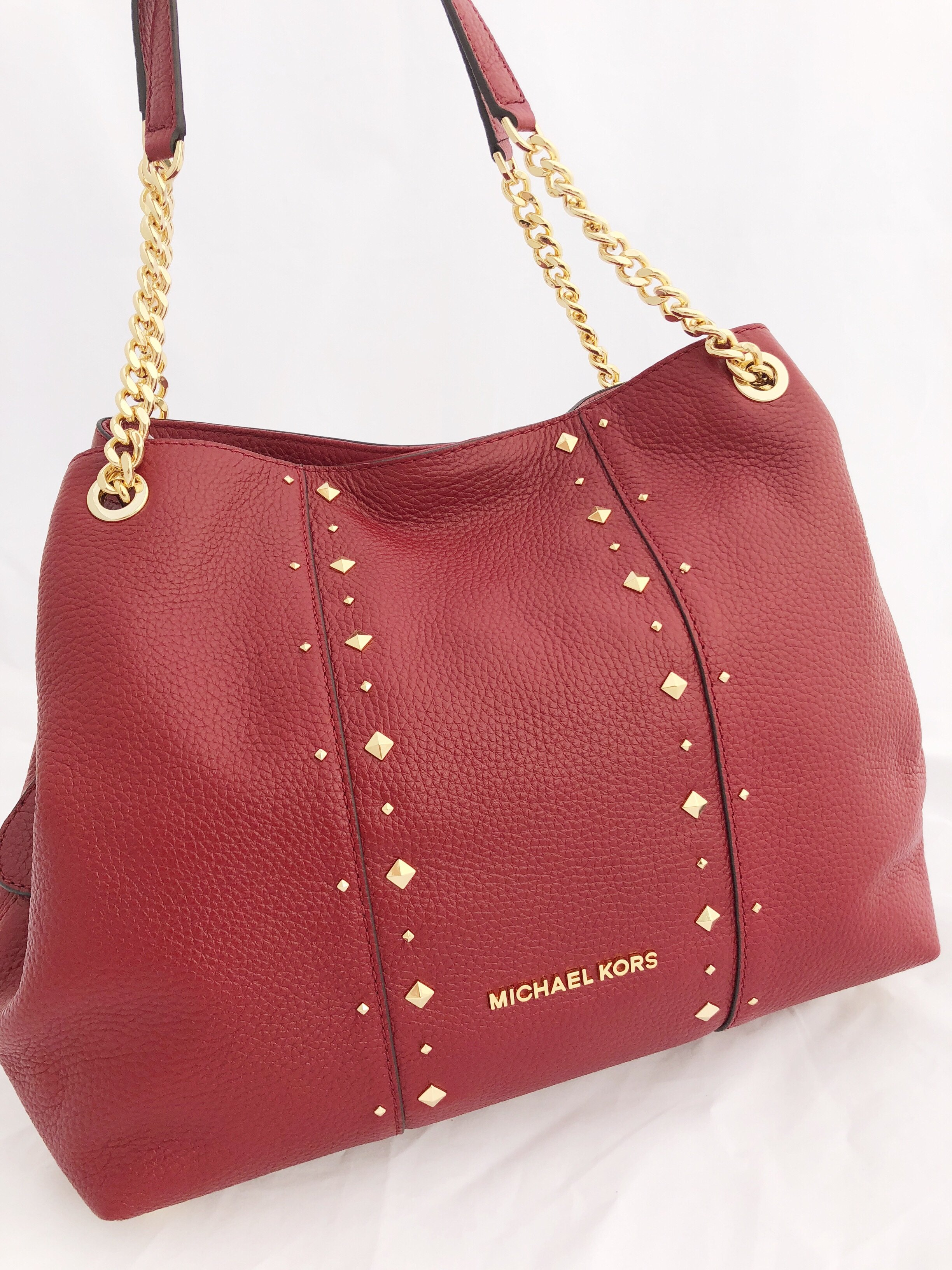 e5581bdea0babc Michael Kors Red Bag With Gold Chain | Stanford Center for ...