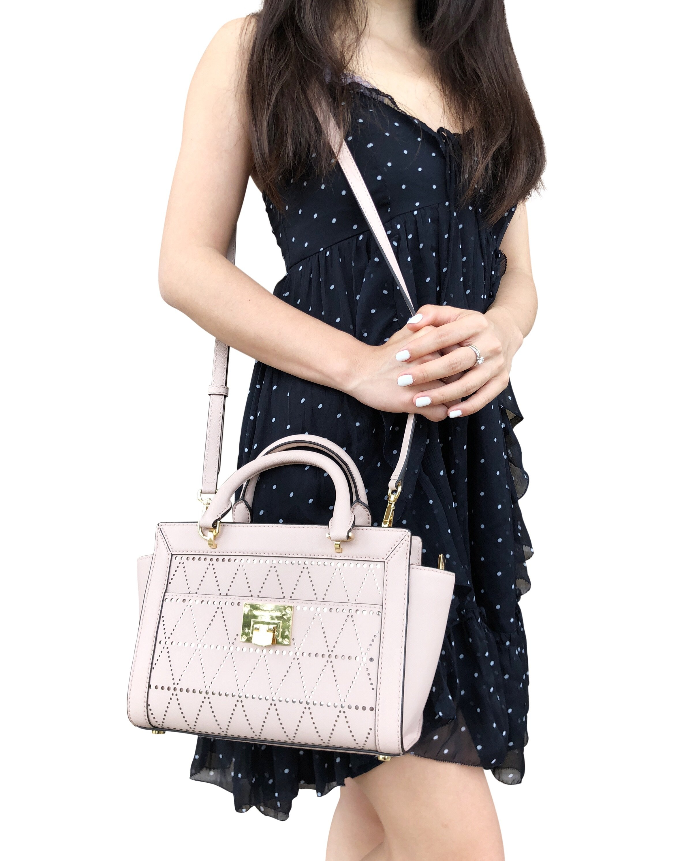 1584562b7ccd Michael Kors Tina Small Top Zip Satchel Handbag Crossbody Ballet Pink