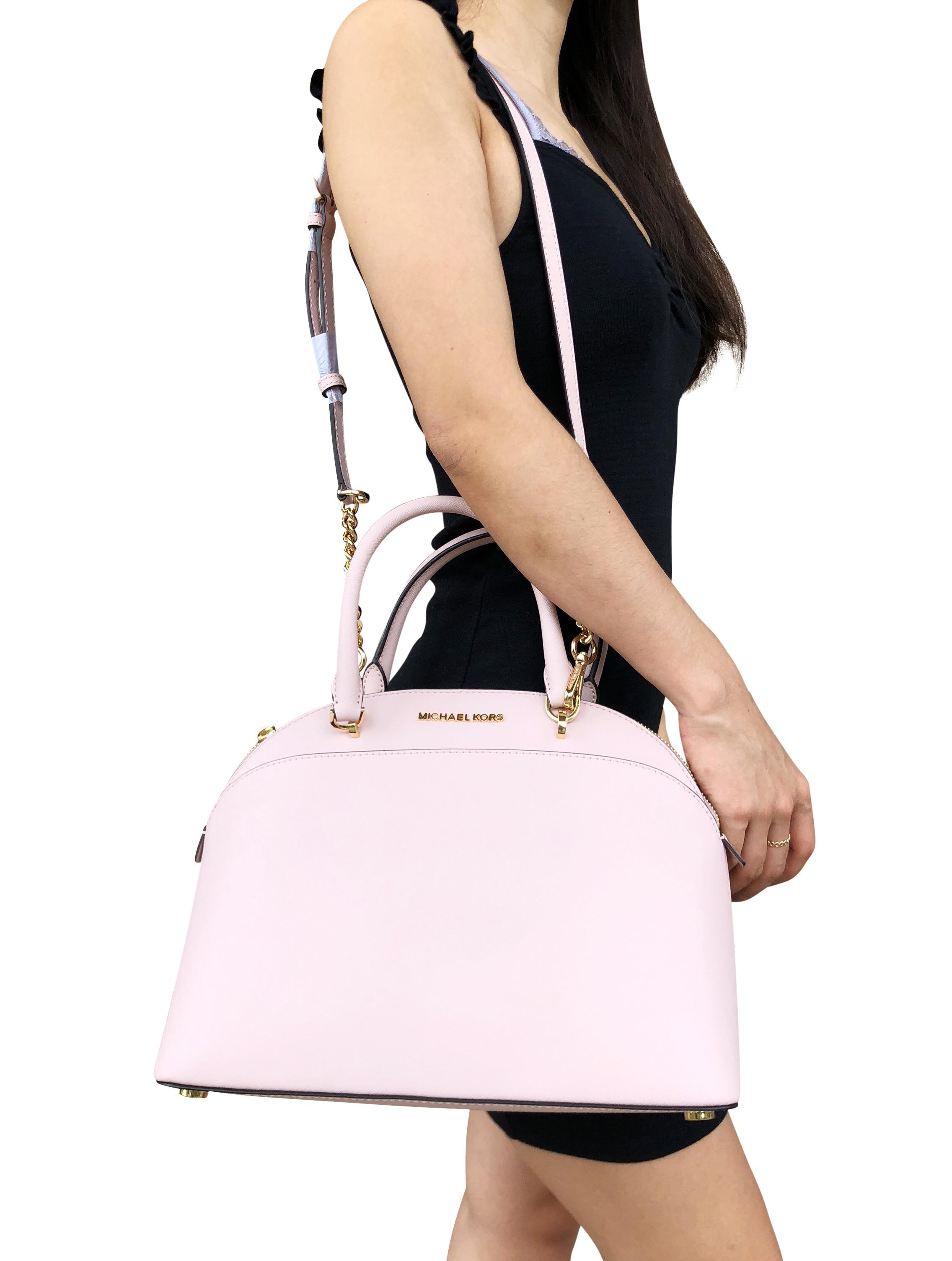 f8cf957809ab Michael Kors Emmy Large Cindy Dome Satchel Bag Blossom Pink ...