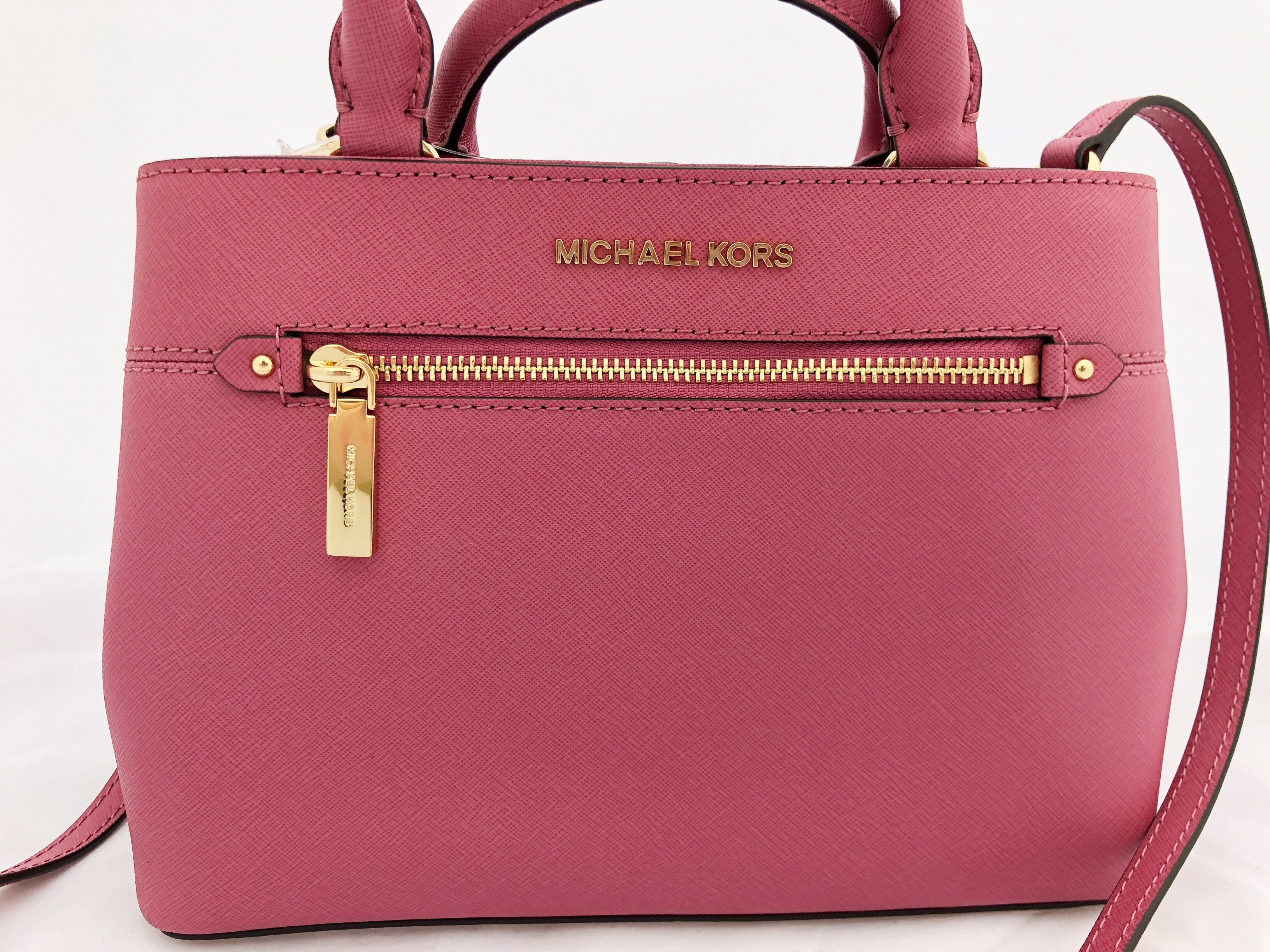 726ae6013b1f Michael Kors Hailee XS Satchel Small Crossbody Tulip Pink MISSING ...