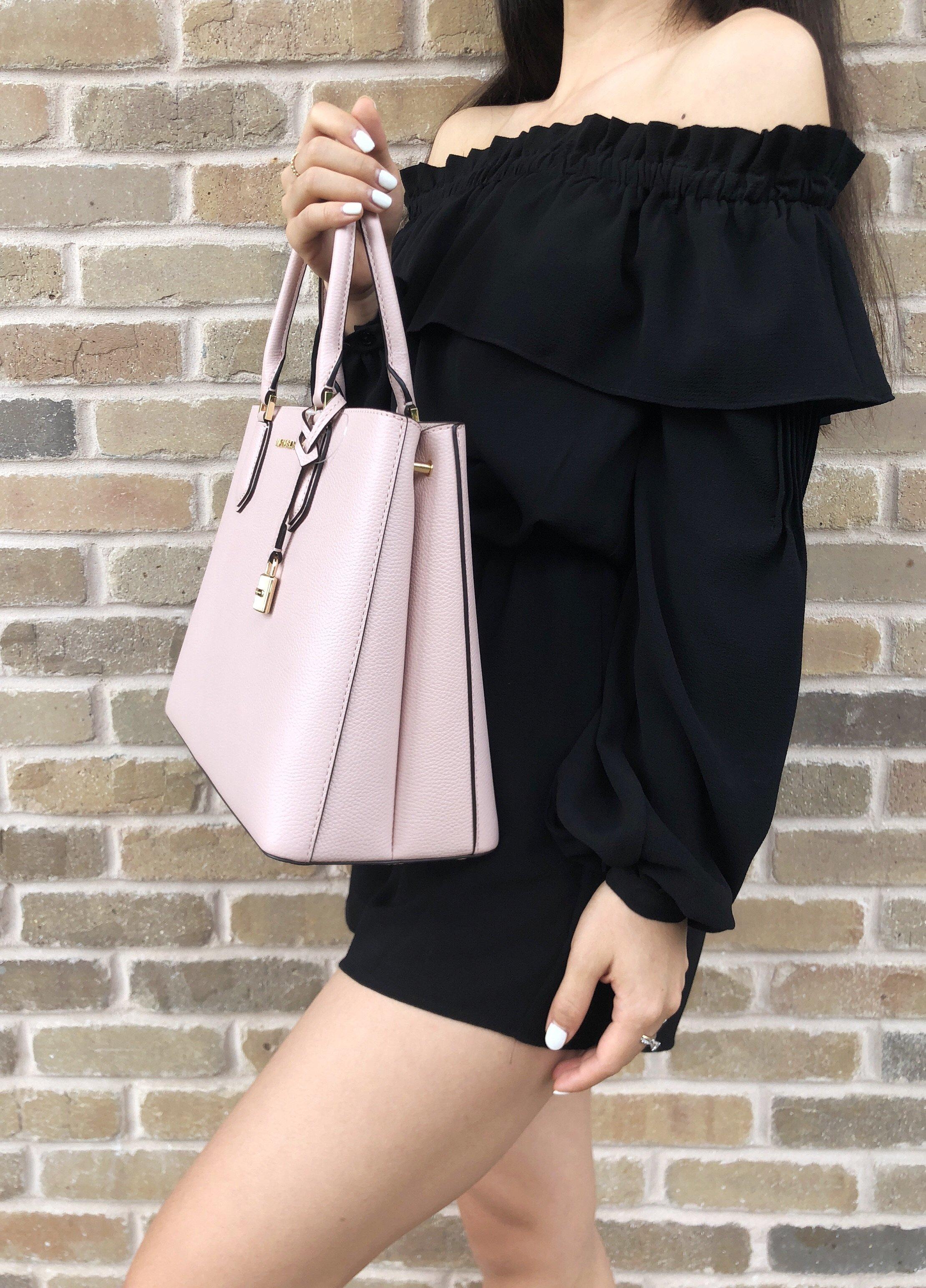 9ea047947ba6 Michael Kors Adele Mercer Large Satchel Bag Blossom Ballet Pink ...