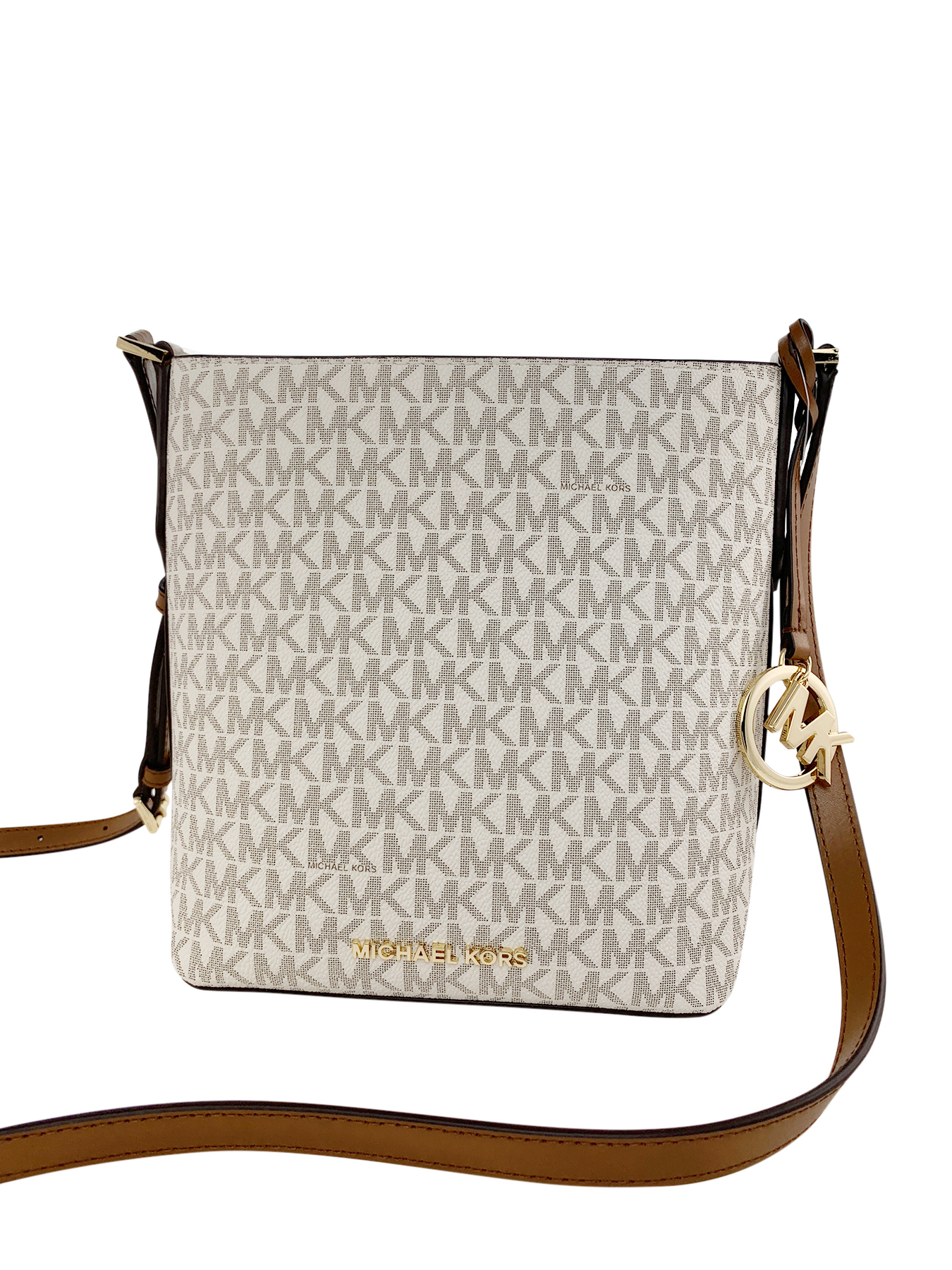 f3e594e08c1b Michael Kors Kimberly Bucket Crossbody Bag Messenger Vanilla MK Acorn