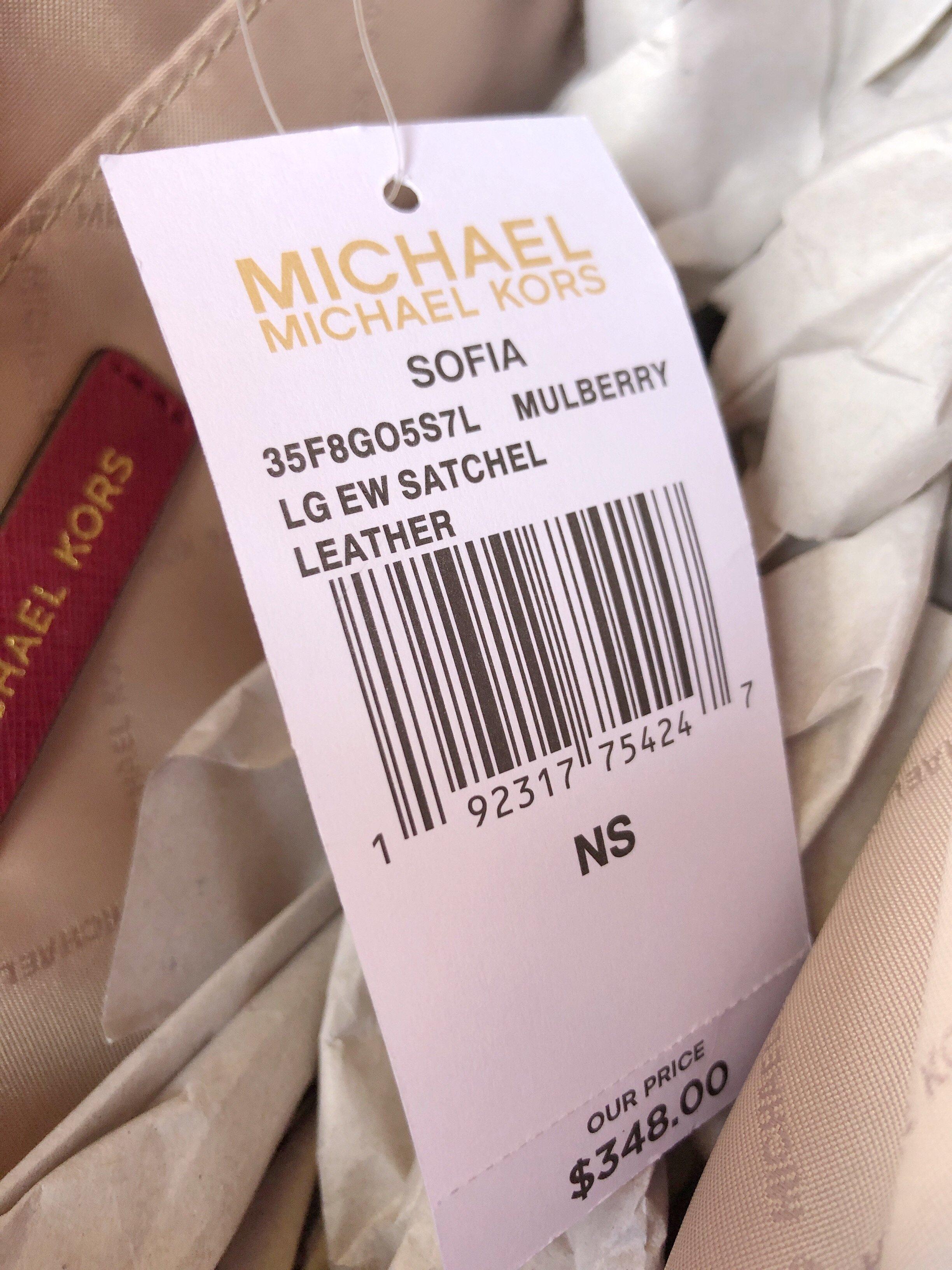 cd9a9ab045cd55 Michael Kors Sofia Portia Large East West Satchel Crossbody Mulberry ...