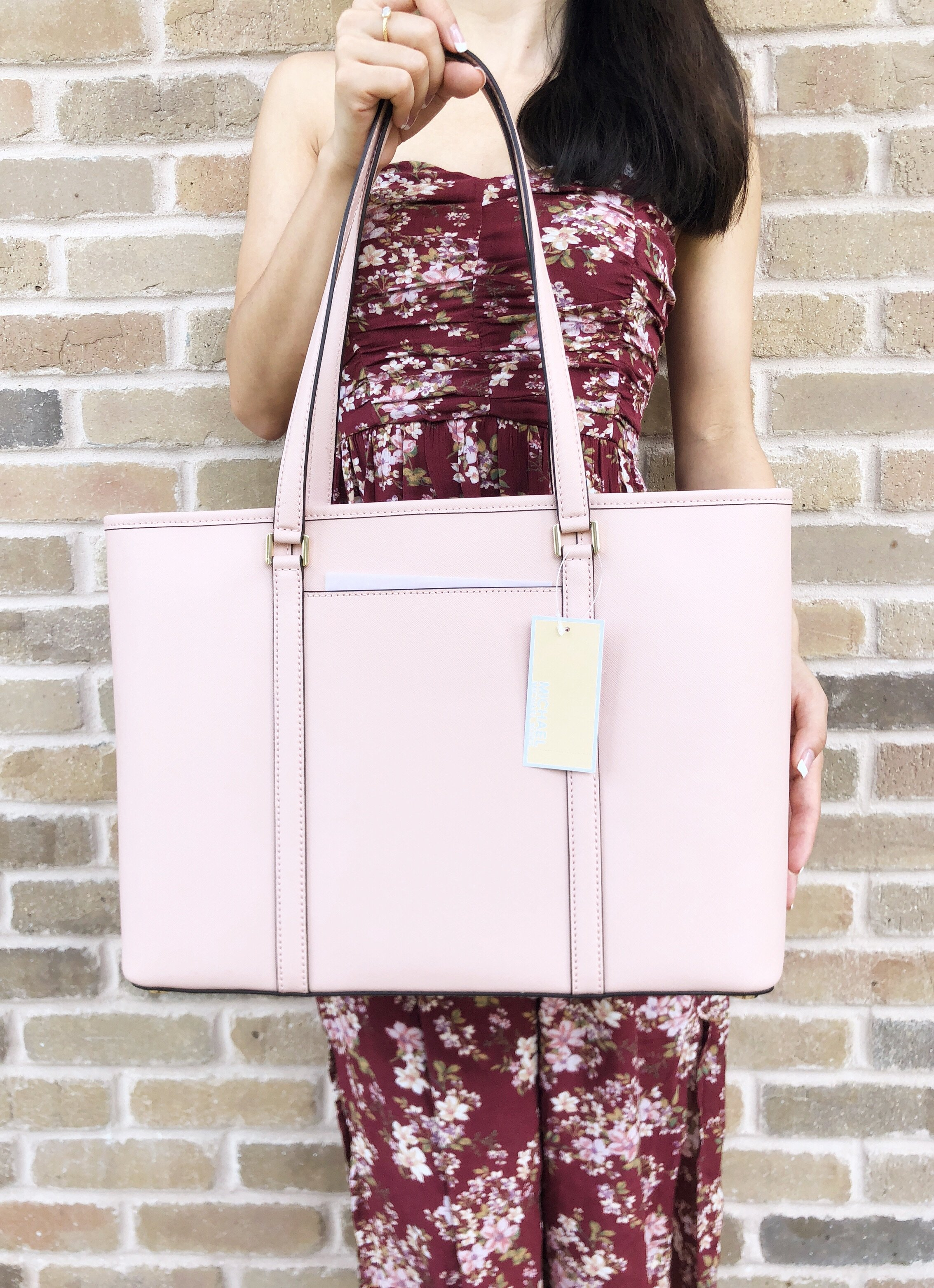 a5112d5987 Michael Kors Sady Large Multifunctional Top Zip Tote Pastel Pink ...