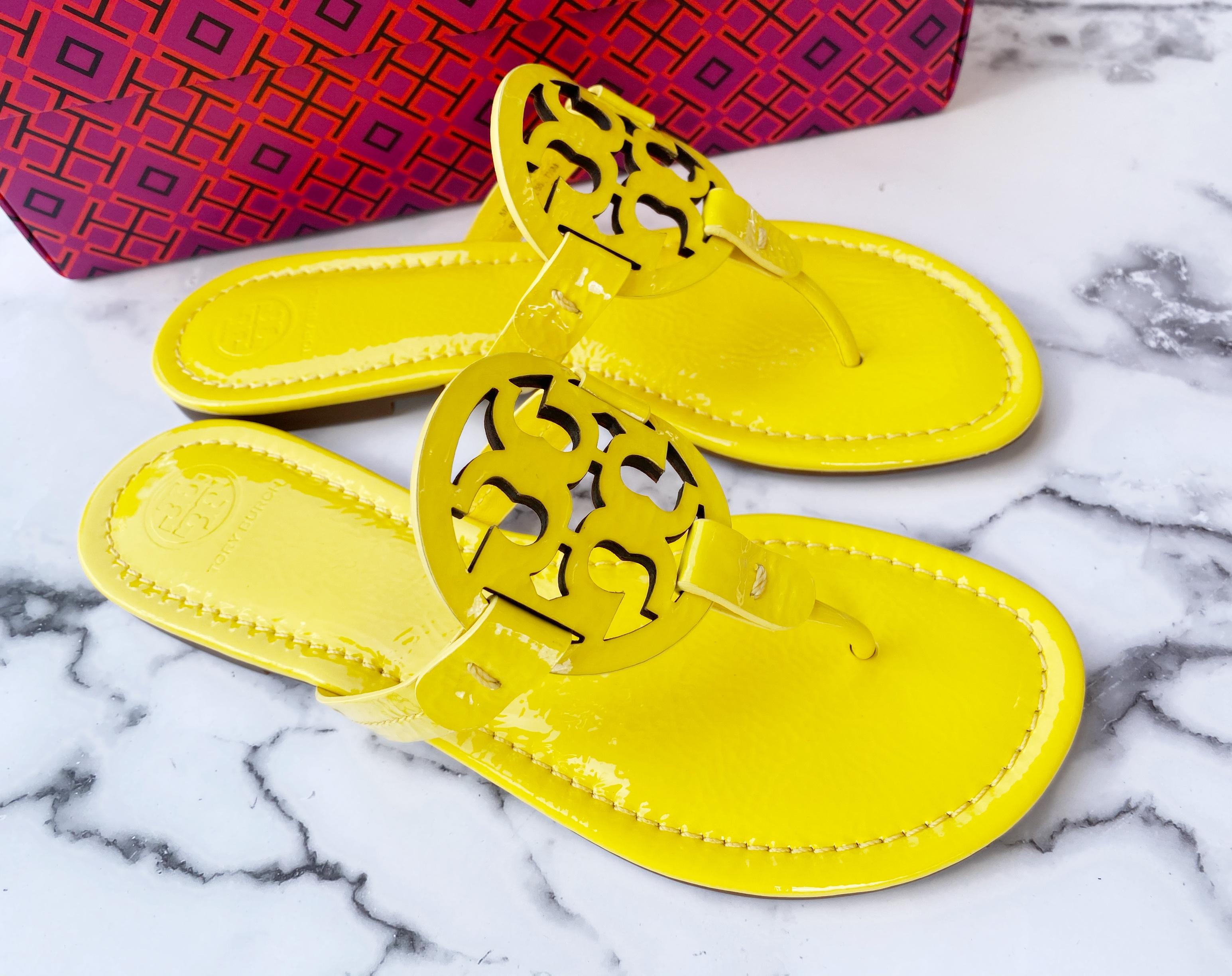 NIB Tory Burch Miller Sandals Patent