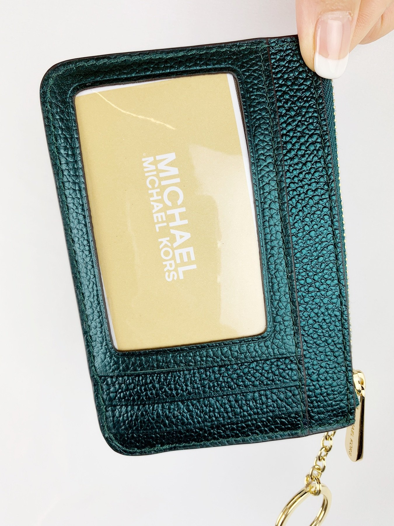 be6c9a0aa014 Michael Kors Jet Set Travel Zip Coin Wallet ID Keyring Card Holder ...