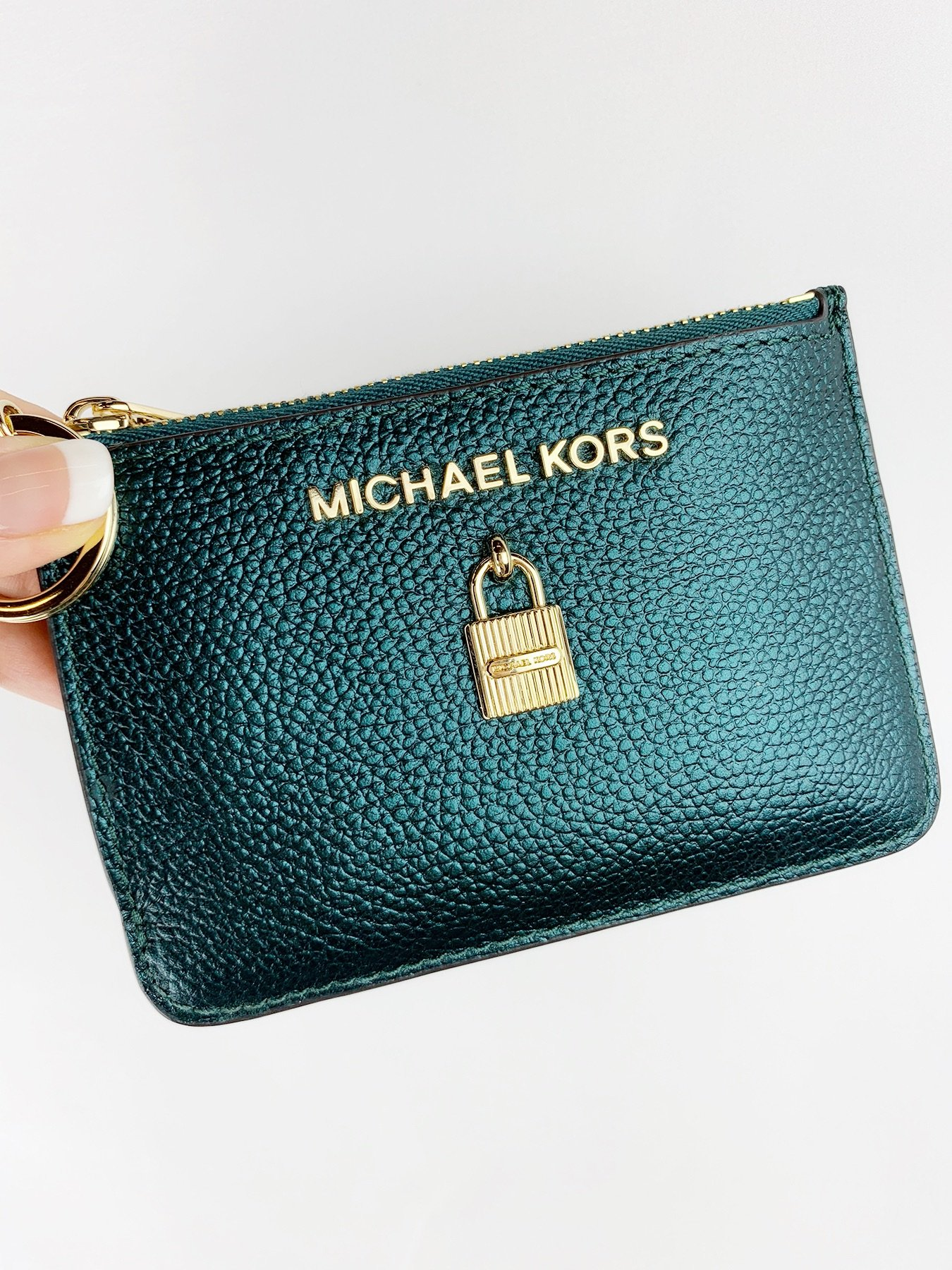 771d81dd009dea Michael Kors Jet Set Travel Zip Coin Wallet ID Keyring Card Holder ...