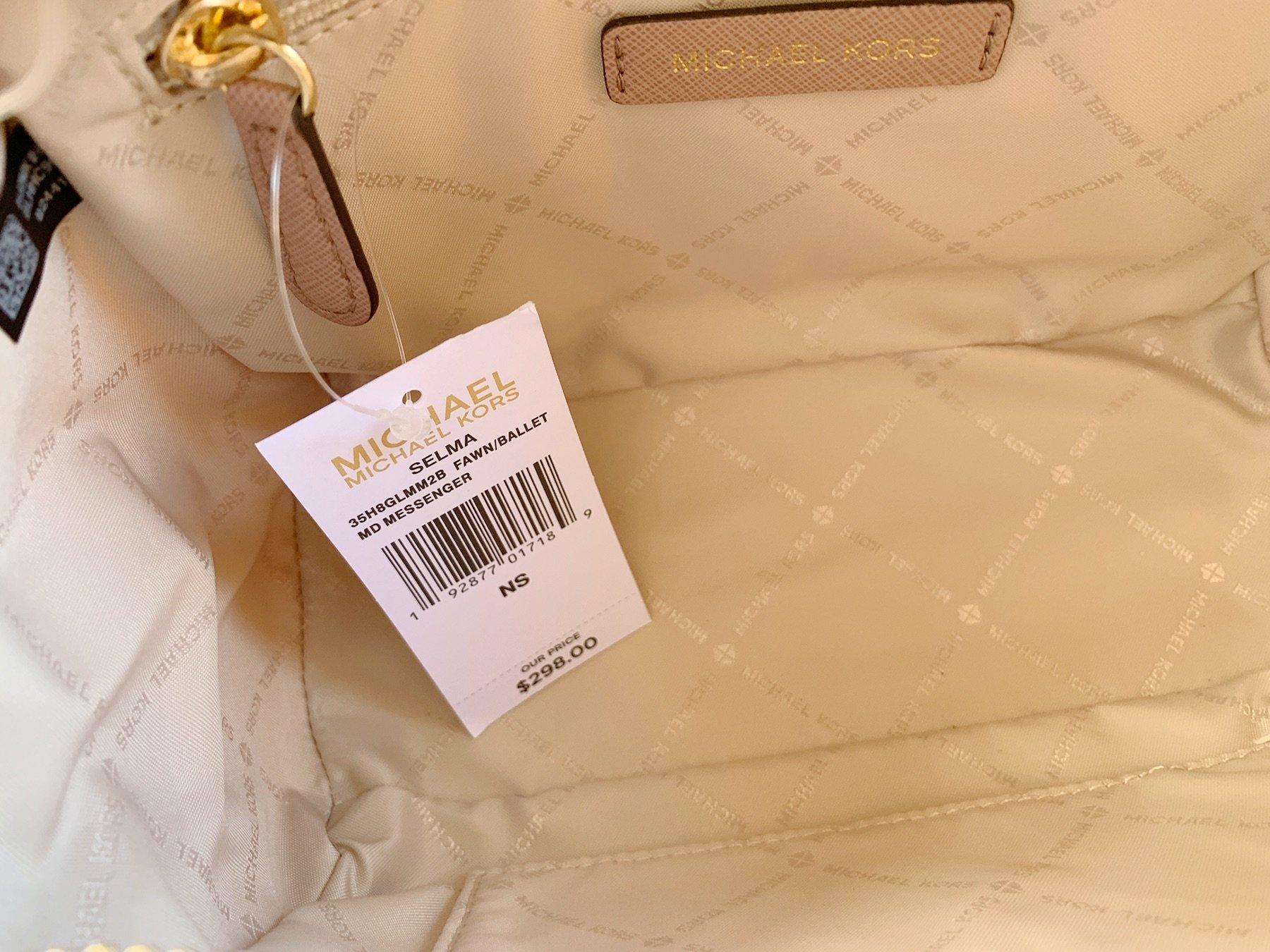 Details zu Michael Kors Selma Medium Messenger Bag Crossbody Fawn MK Ballet Pink