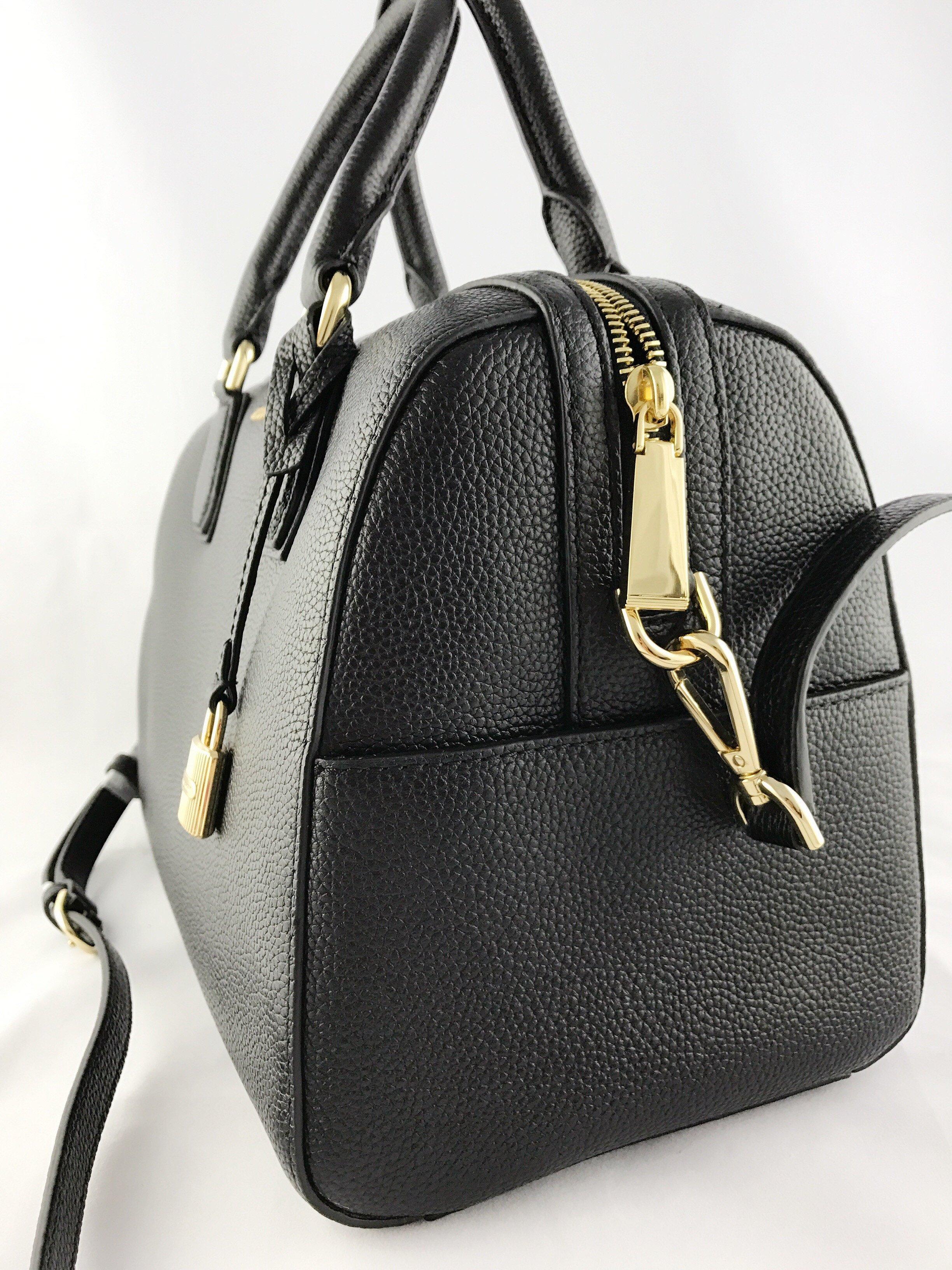 michael kors mercer medium duffle satchel bag black. Black Bedroom Furniture Sets. Home Design Ideas