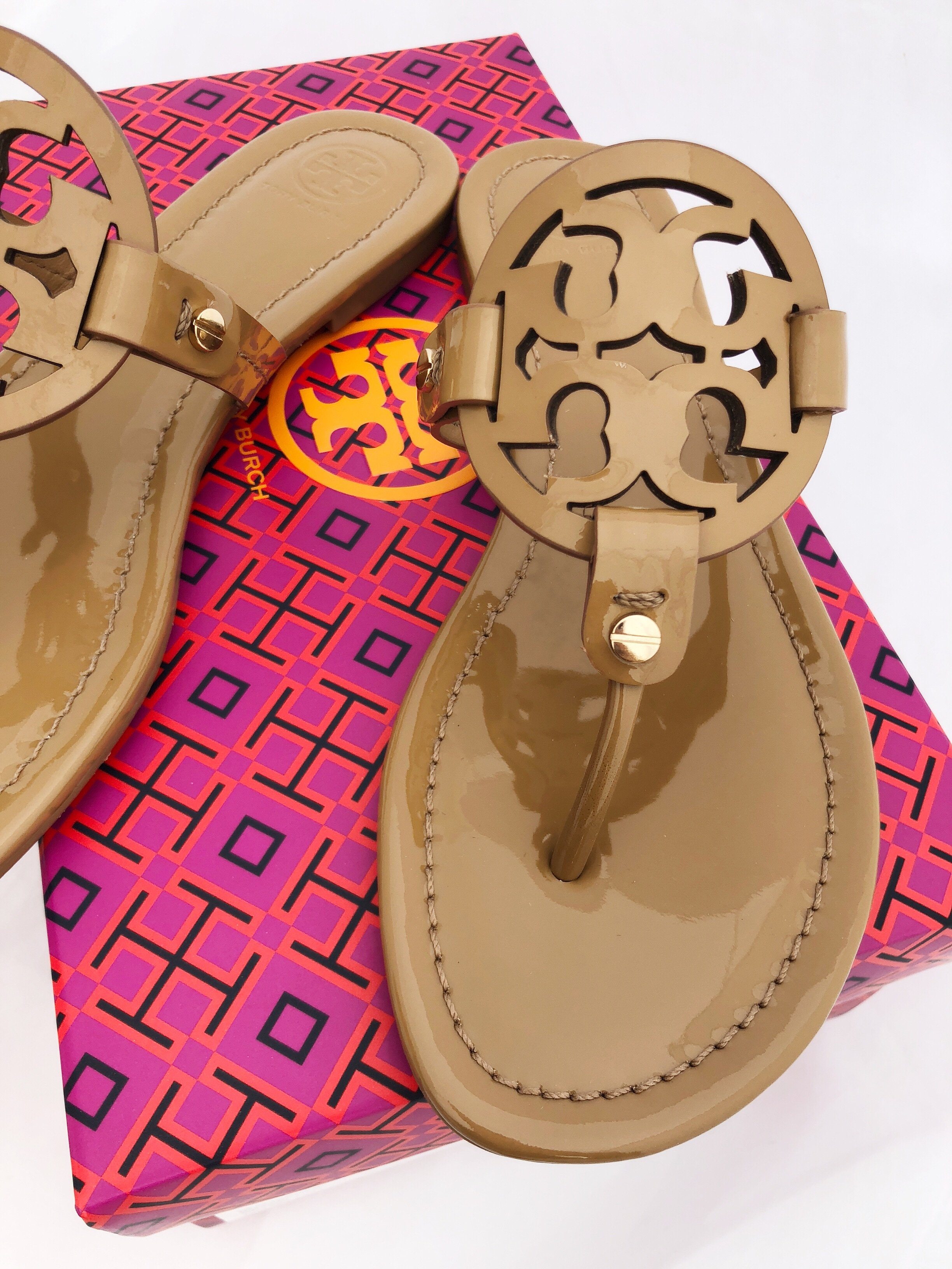 640bb0b231586 NIB Tory Burch Miller Sandals Flip Flop Sand Tan 7 7.5 8 8.5 10